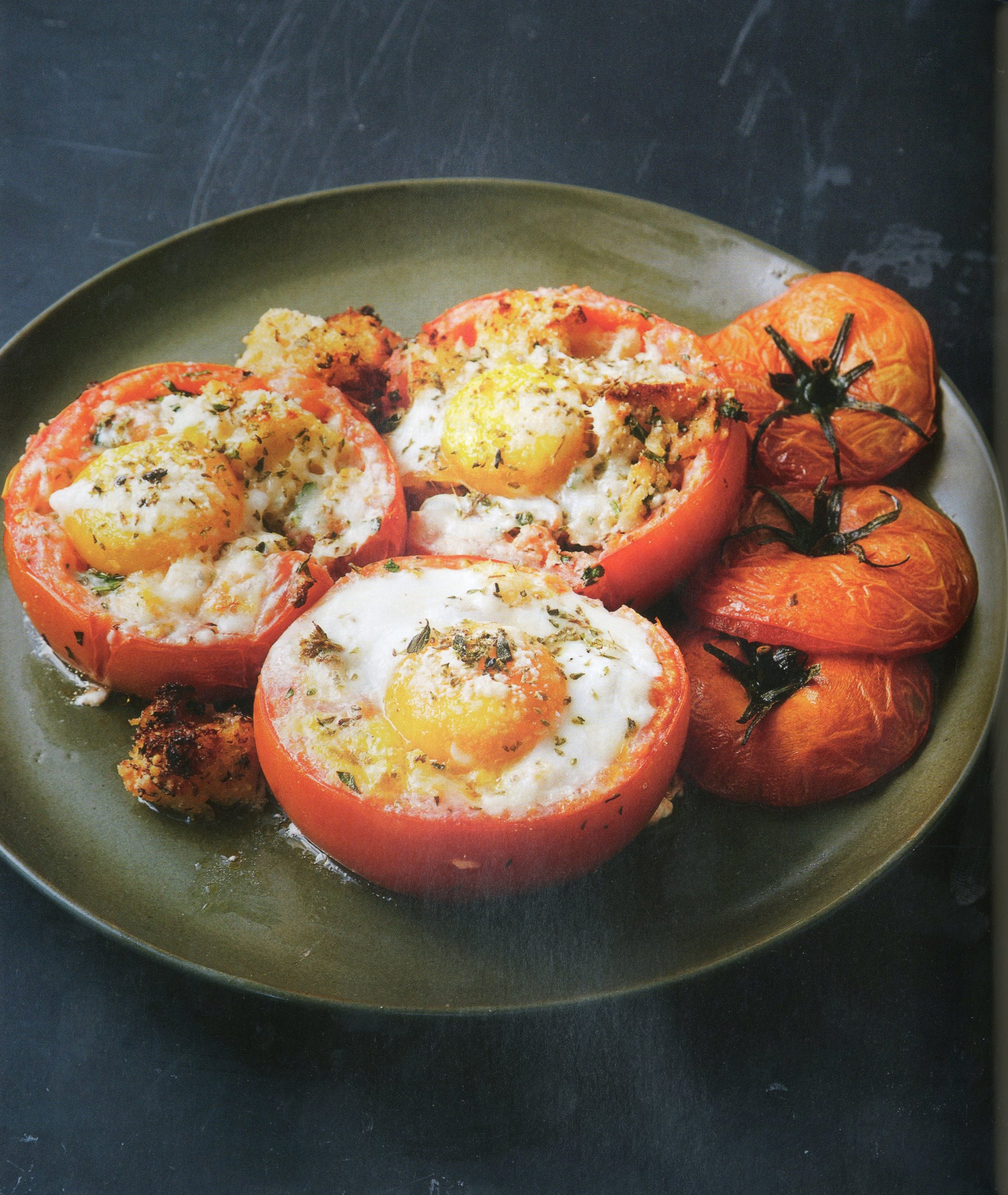 """Gluttonous Tomatoes from """"Lidia's Commonsense Italian Cooking."""" Lidia Bastianich will be in Amherst on Saturday."""