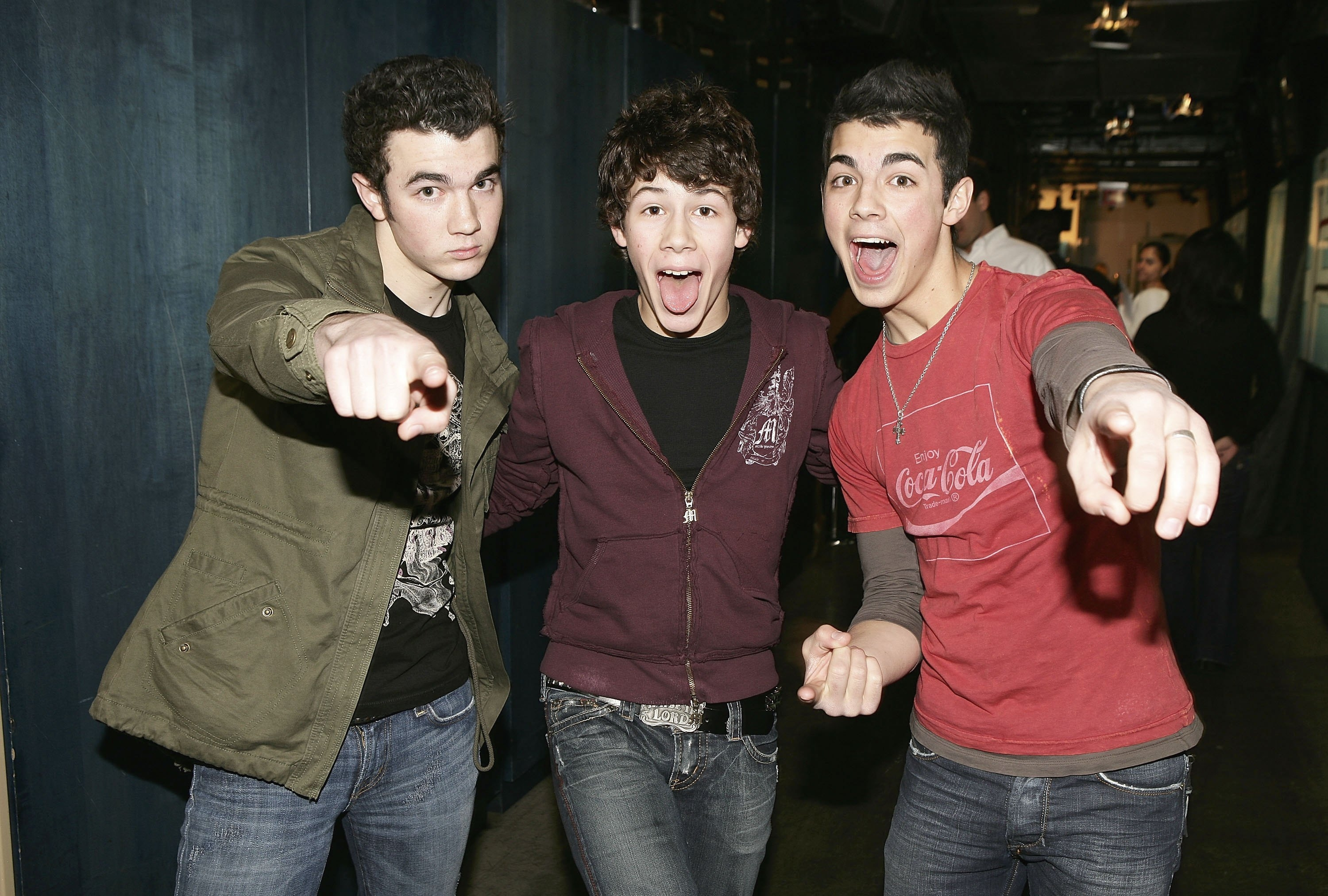 Kevin, Nick and Joe Jonas, shown here in happier times, have announced they will no longer perform together.