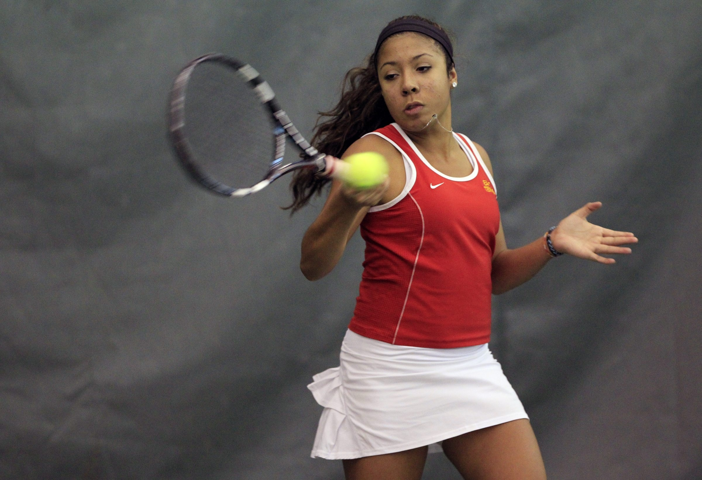 Brianna Gibbs is off to Albany for the state tennis championships after wrapping up her Sectional win on Saturday.