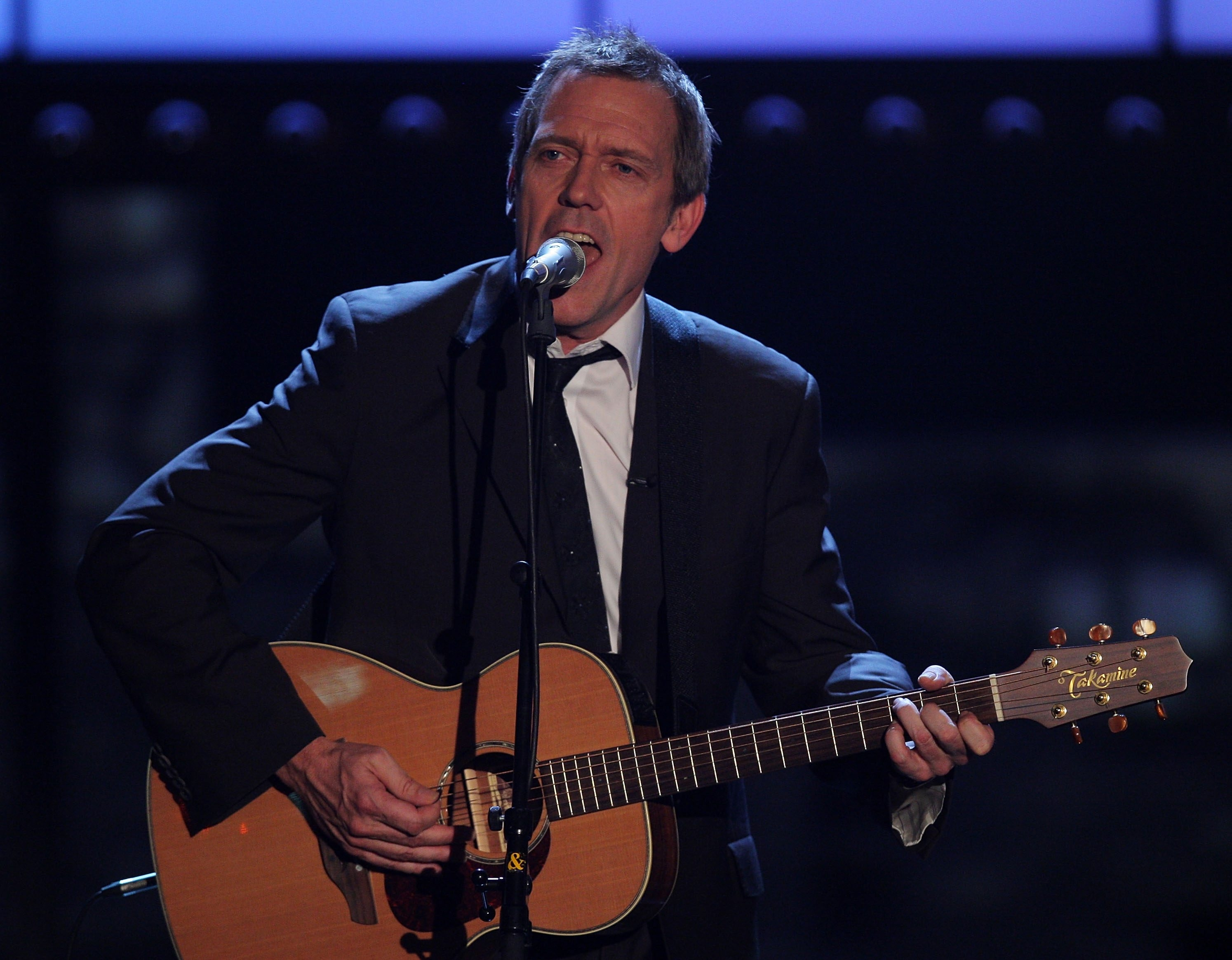 Hugh Laurie, shown in a file photo by Getty Images, brought his Copper Bottom Band to the Riviera Theatre in North Tonawanda Saturday.