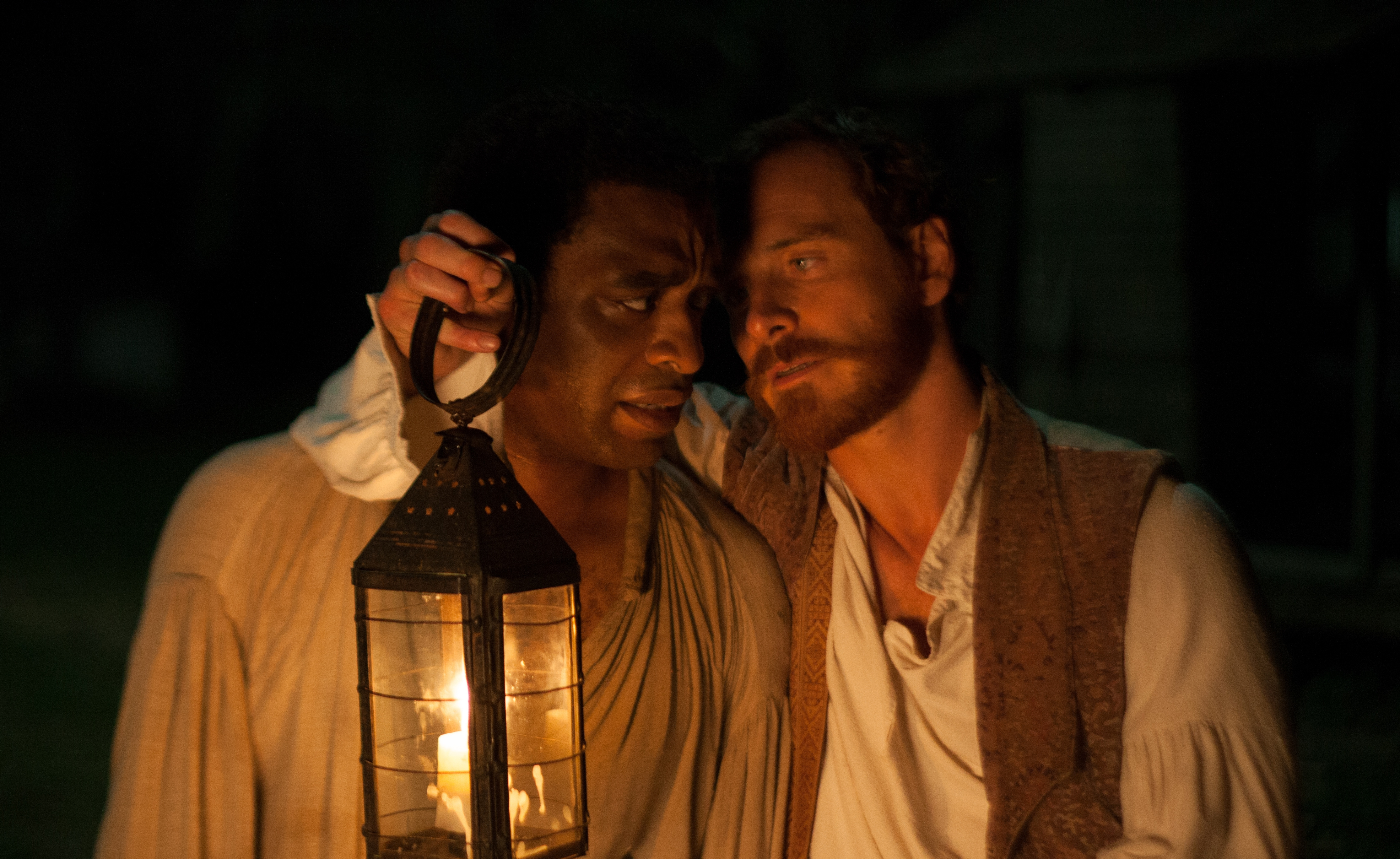 """Michael Fassbender, right, with Chiwetel Ejiofor in """"12 Years A Slave."""""""