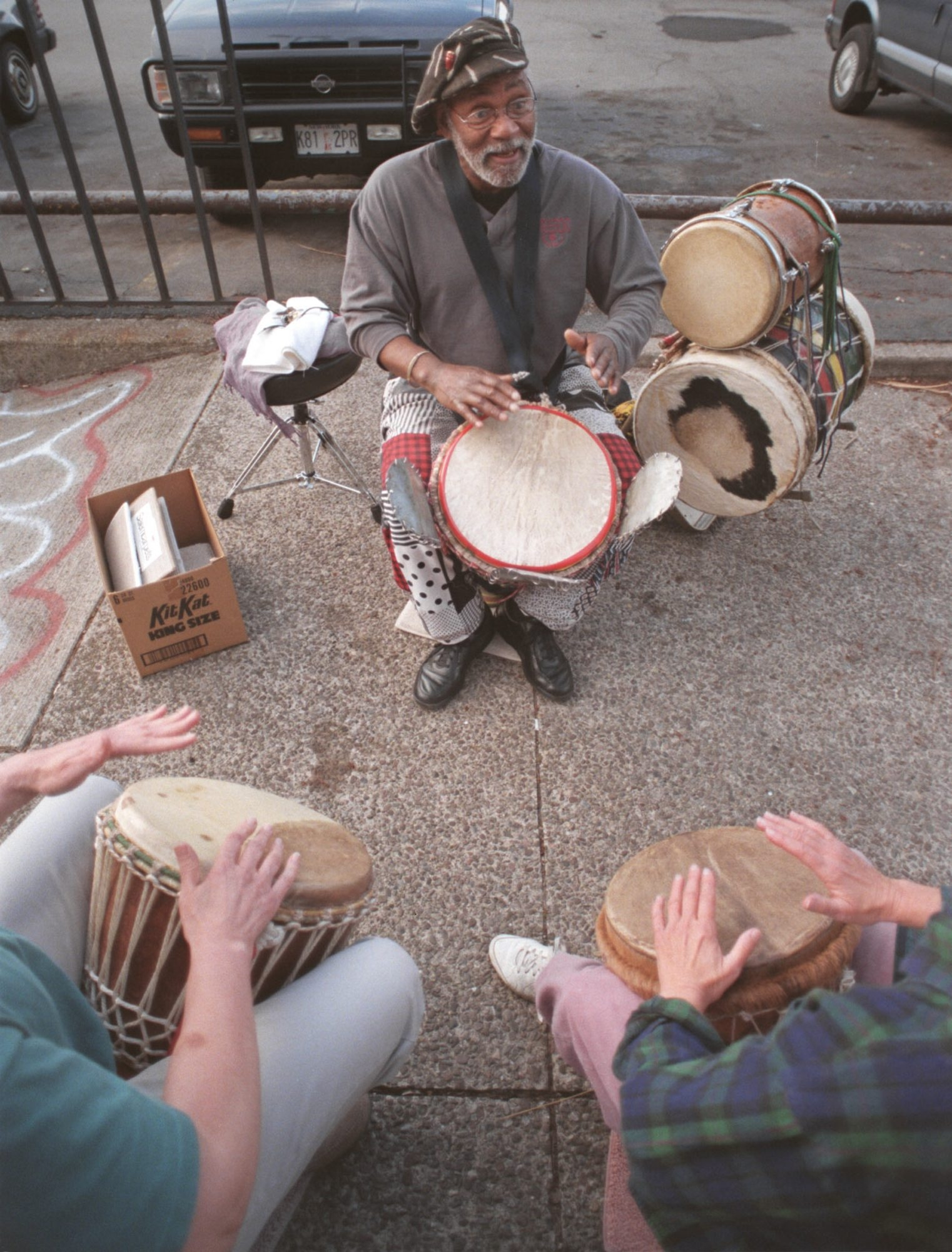 Emile Latimer specialized in African hand drumming and once gave lessons in a park on Elmwood Avenue.