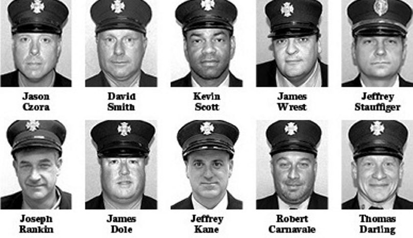 Recipients of this year's Buffalo Fire Department awards.