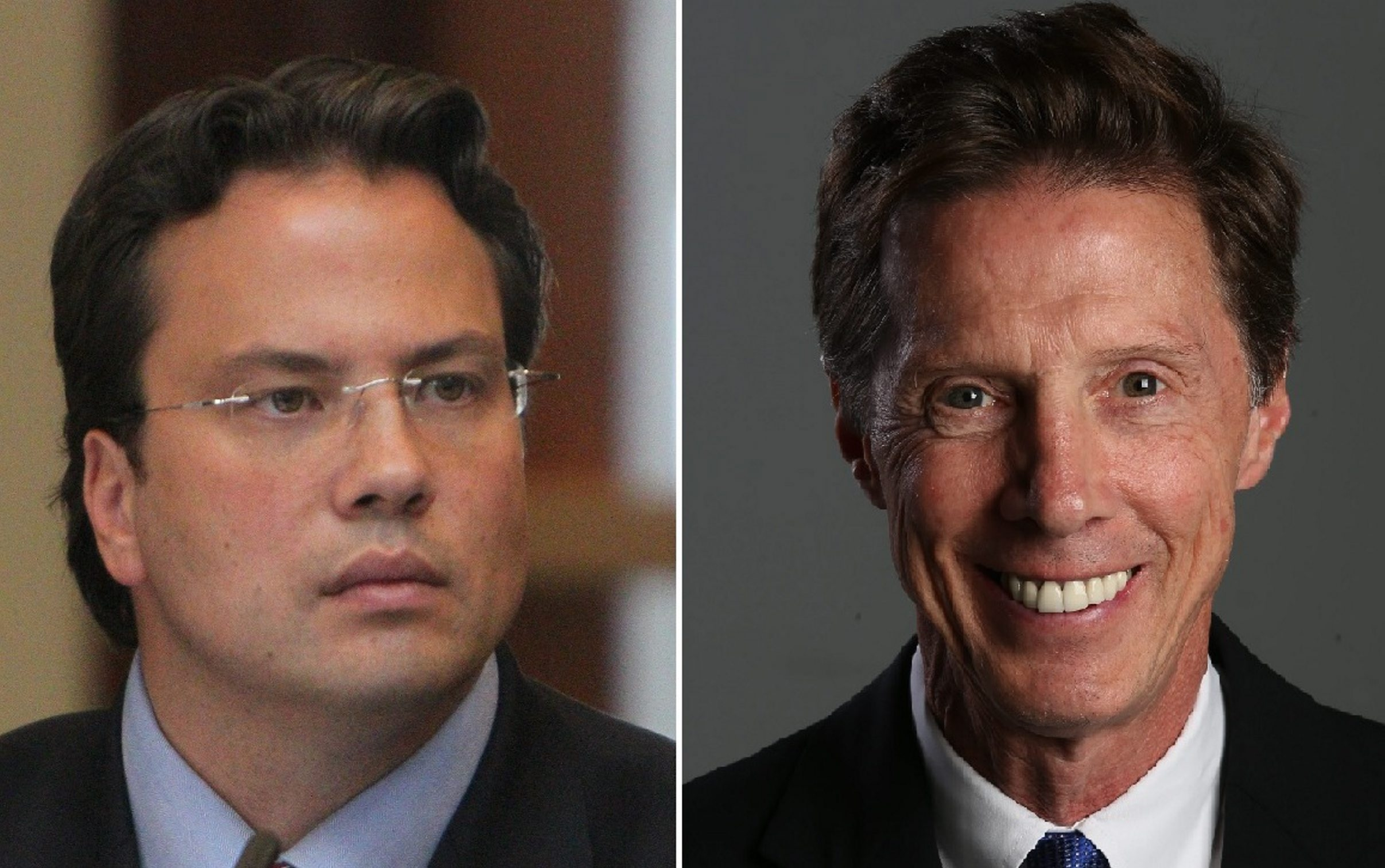 Republican Erie County Comptroller Stefan Mychajliw, left, faces a challenge from Democrat Kevin Gaughan.