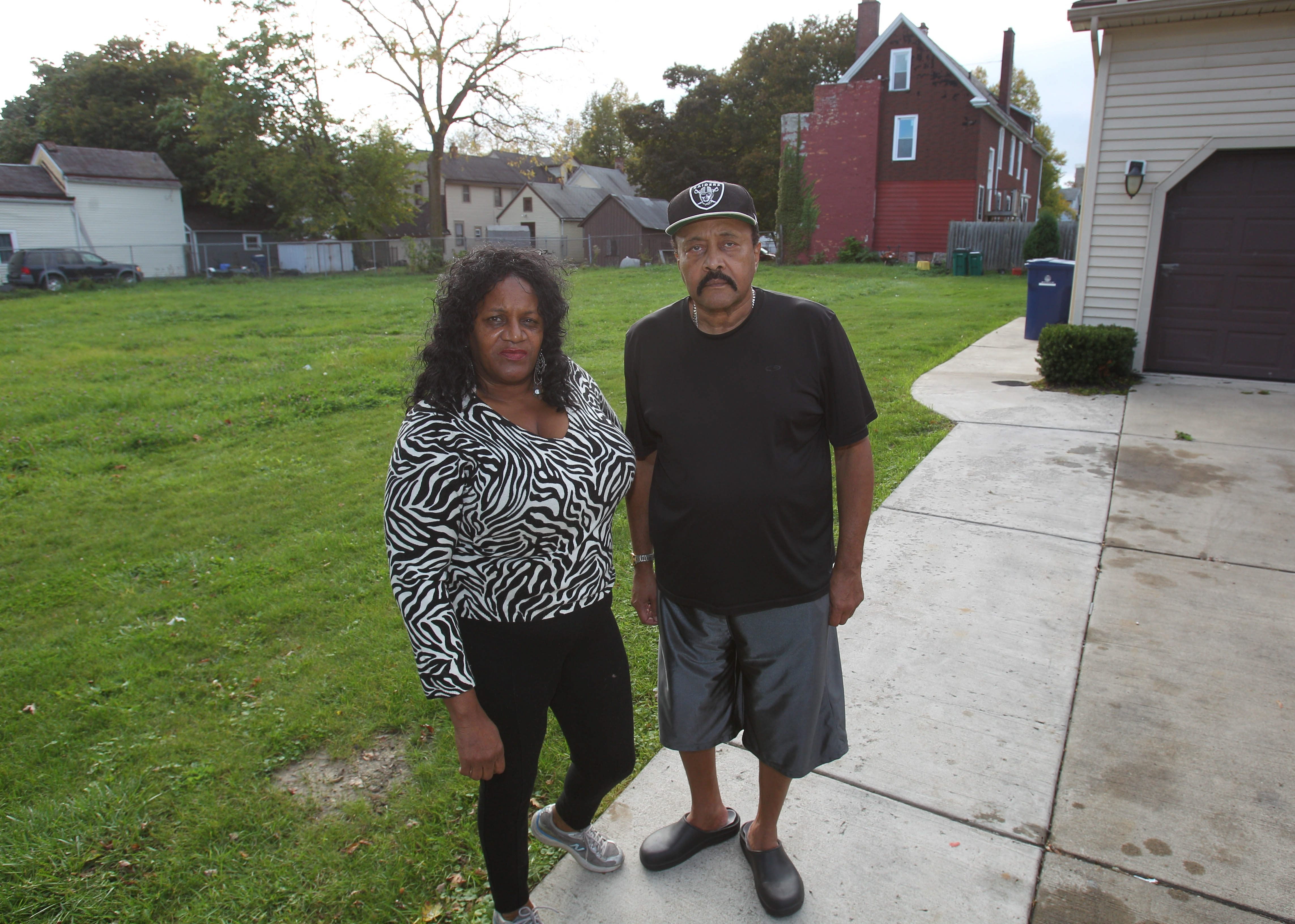 Mattie and Larry Goins were given approval to buy the lot next to their home on Lemon Street in Buffalo only after they were told that the Rev. Michael Chapman wasn't interested in the property.