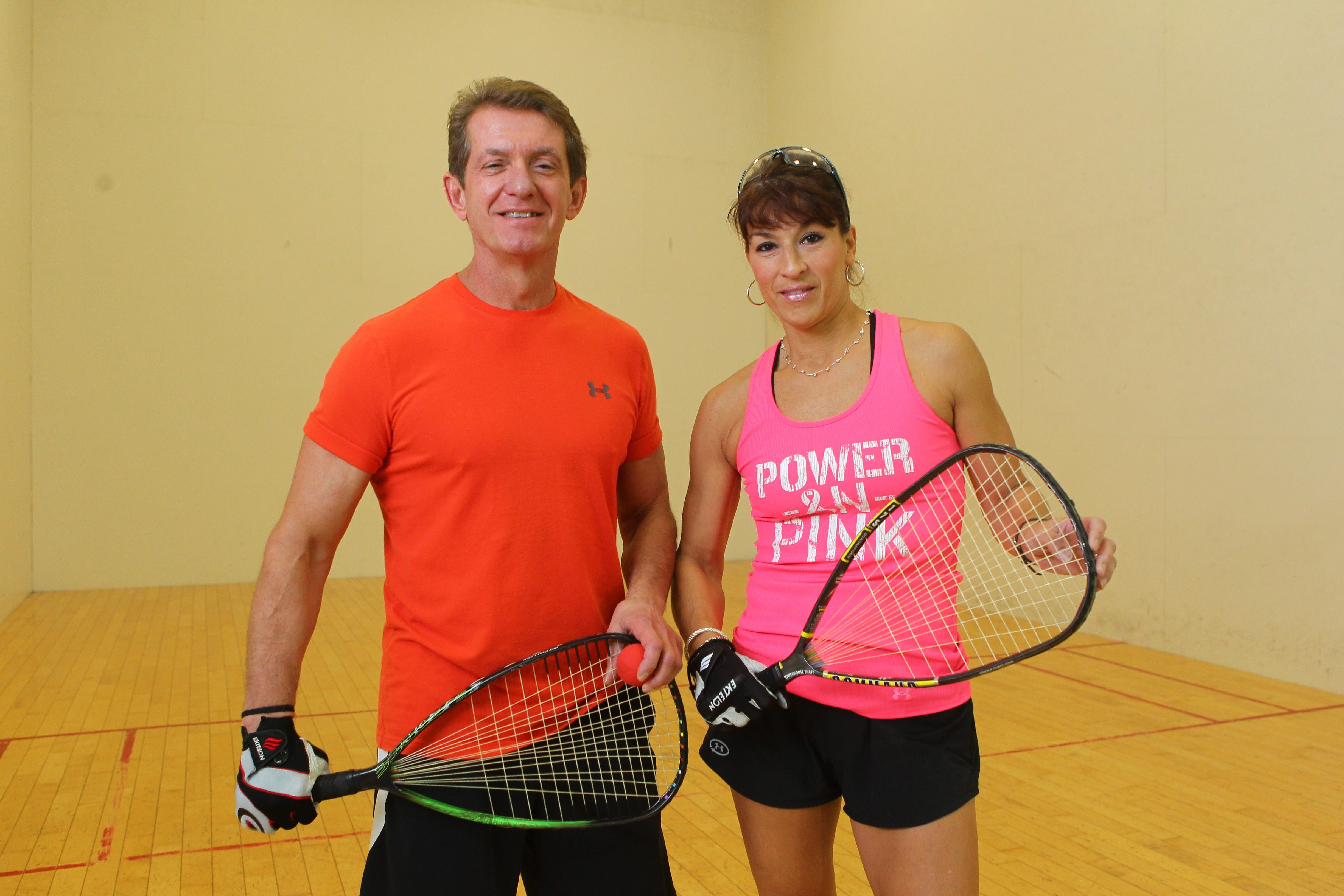 Bob Seiler and Trish Fursman have less company on the racquetball court these days.