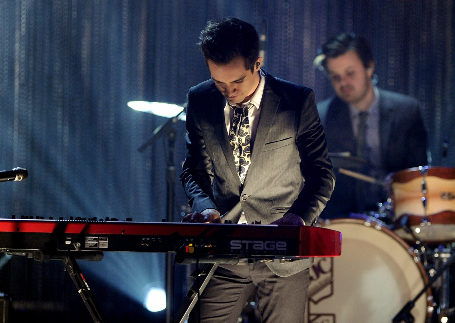 """Brendon Urie, front, and drummer Spencer Smith in fine form on """"Too Weird to Live, Too Rare to Die!"""""""