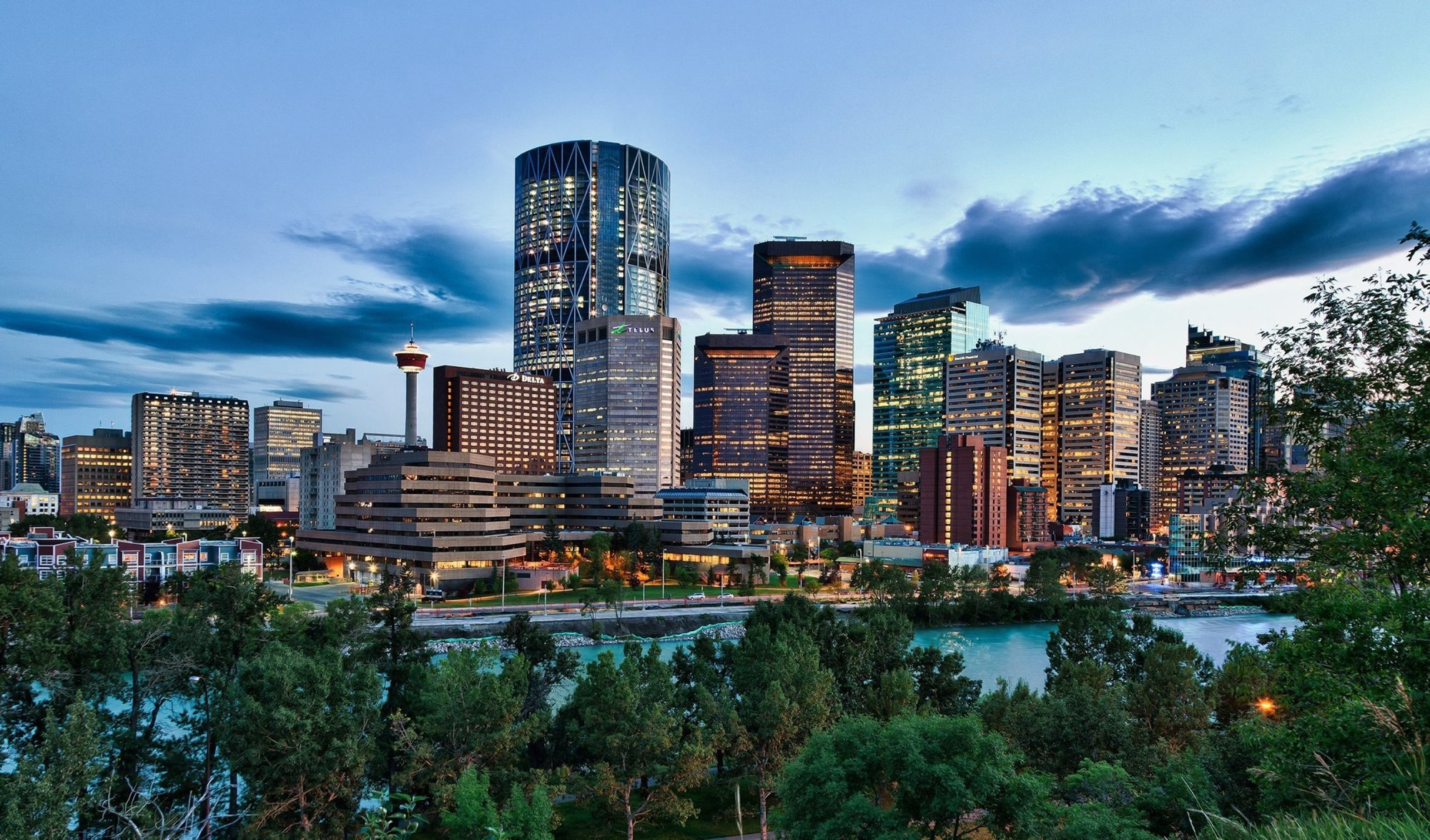 Bow Tower rises above the skyline of Calgary, Canada. (Tom Day/Chicago Tribune/MCT)