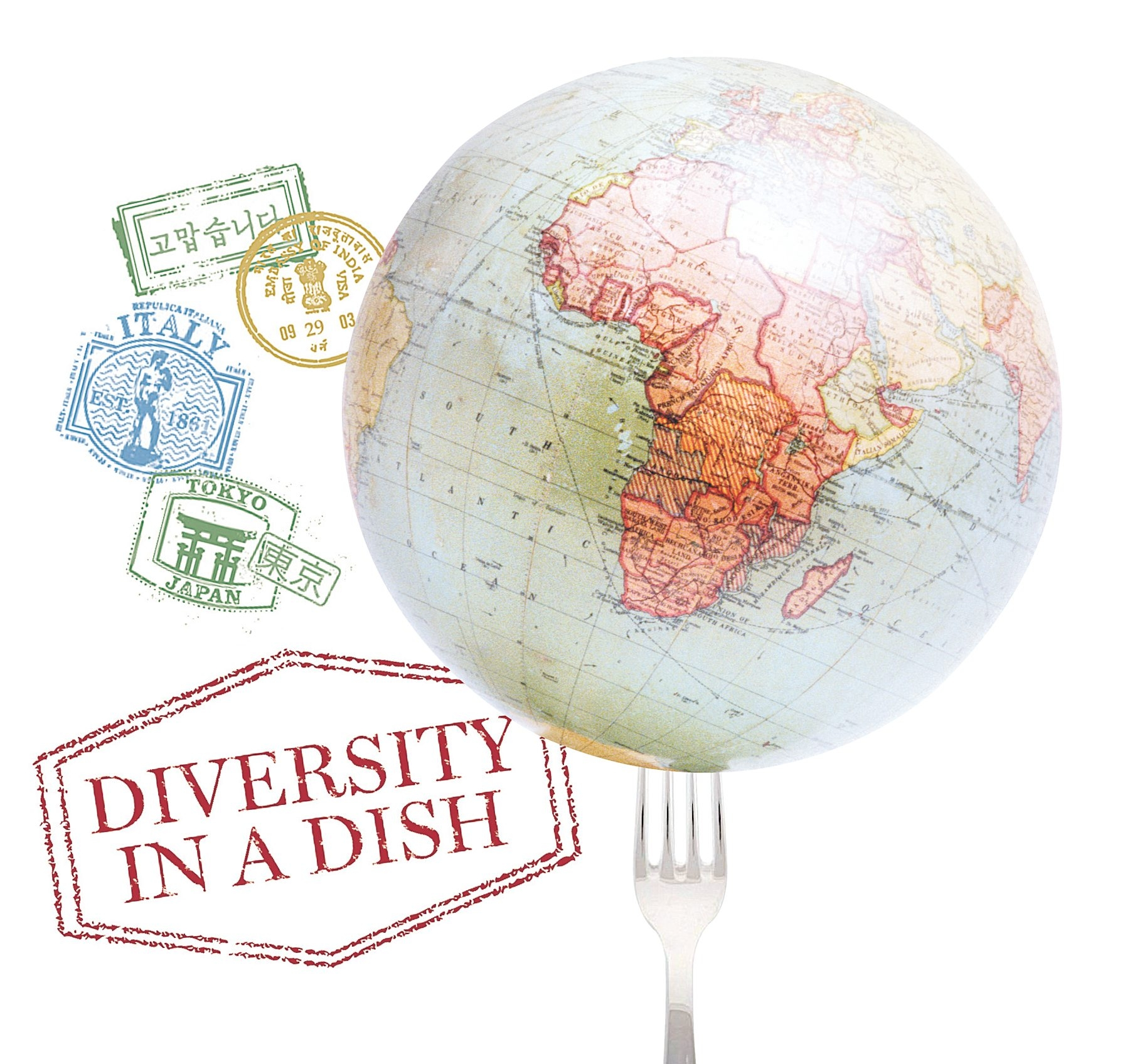 """Buffalo News illustration  Buffalo Without Borders, a food-centered fundraiser for the International Institute of Buffalo, takes place Thursday. Participants will be issued a """"passport"""" to have stamped at each stop as they take an exotic culinary tour without leaving the room."""