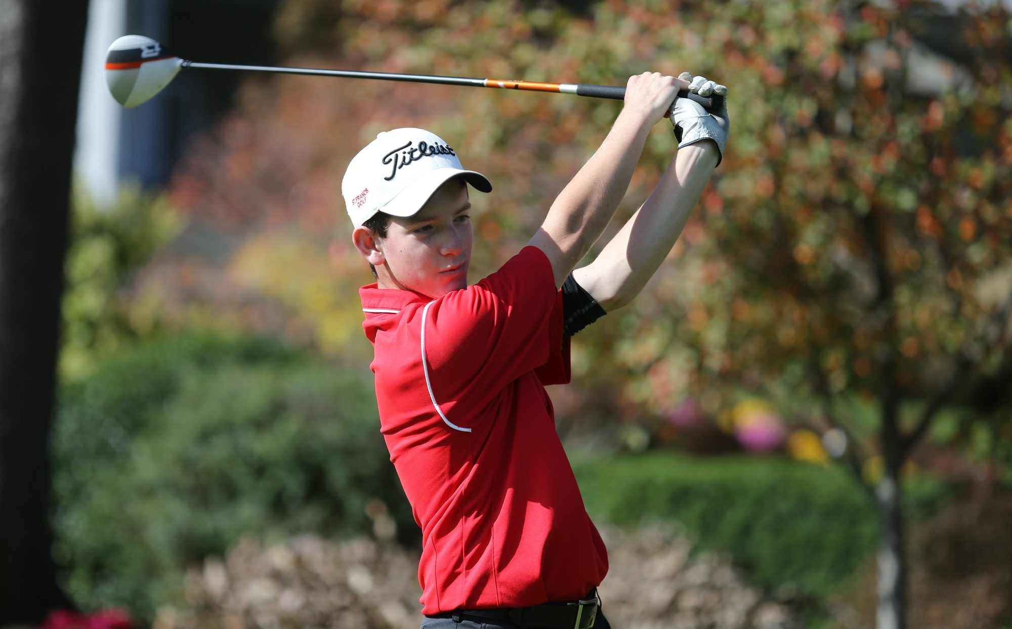 St. Francis' David Hanes fired a 35 on the back nine Monday.