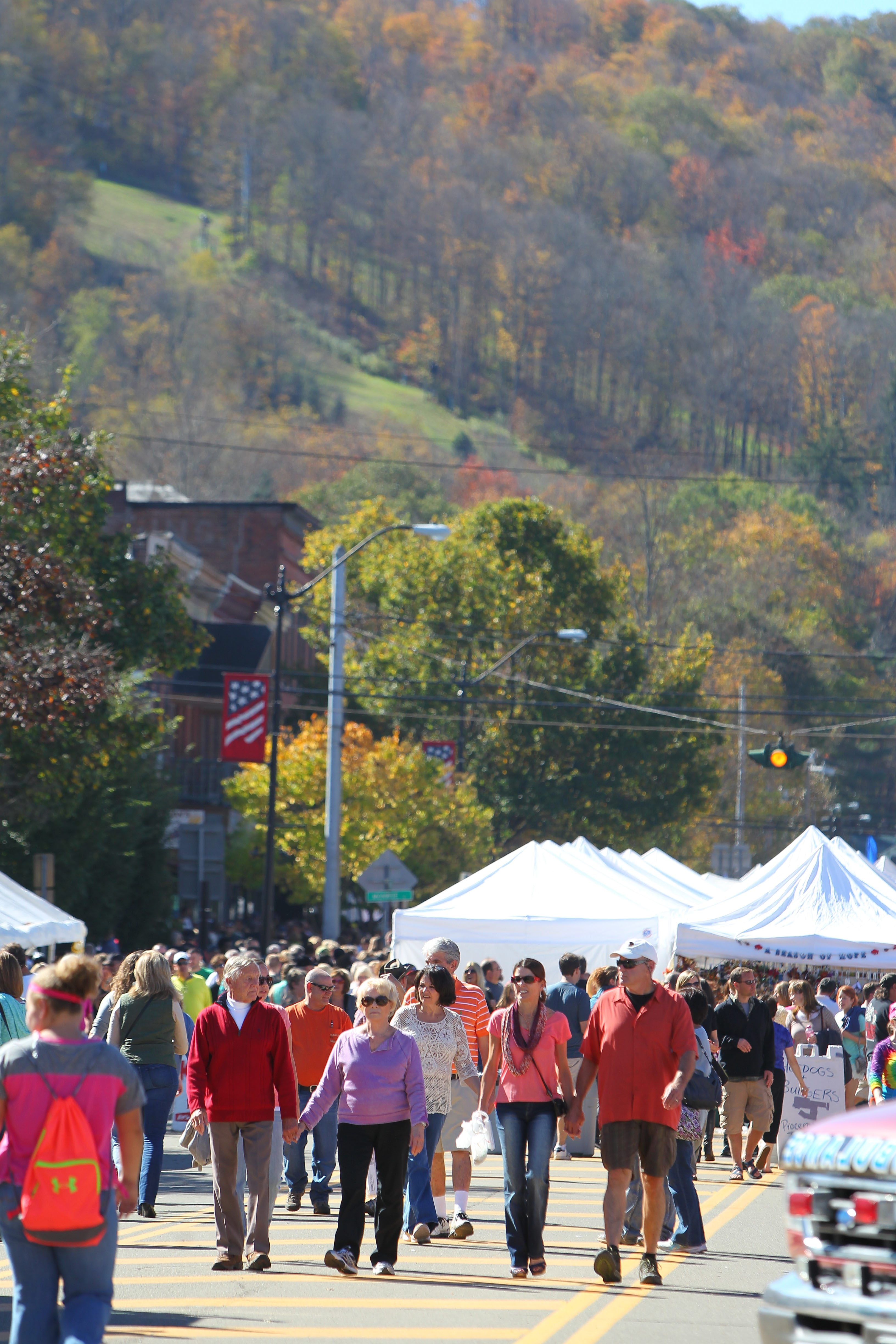 Crowds fill the streets for the annual Fall Festival in Ellicottville on Saturday. The ski village has become as popular a destination in the summer and the fall as it is in the winter.