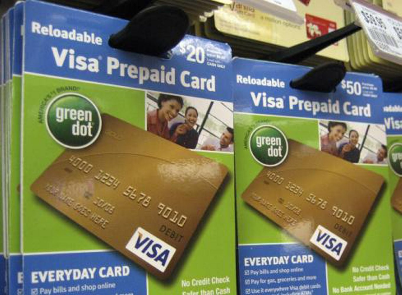 Consumers often buy prepaid debit cards at retailers, which are less regulated than banks.