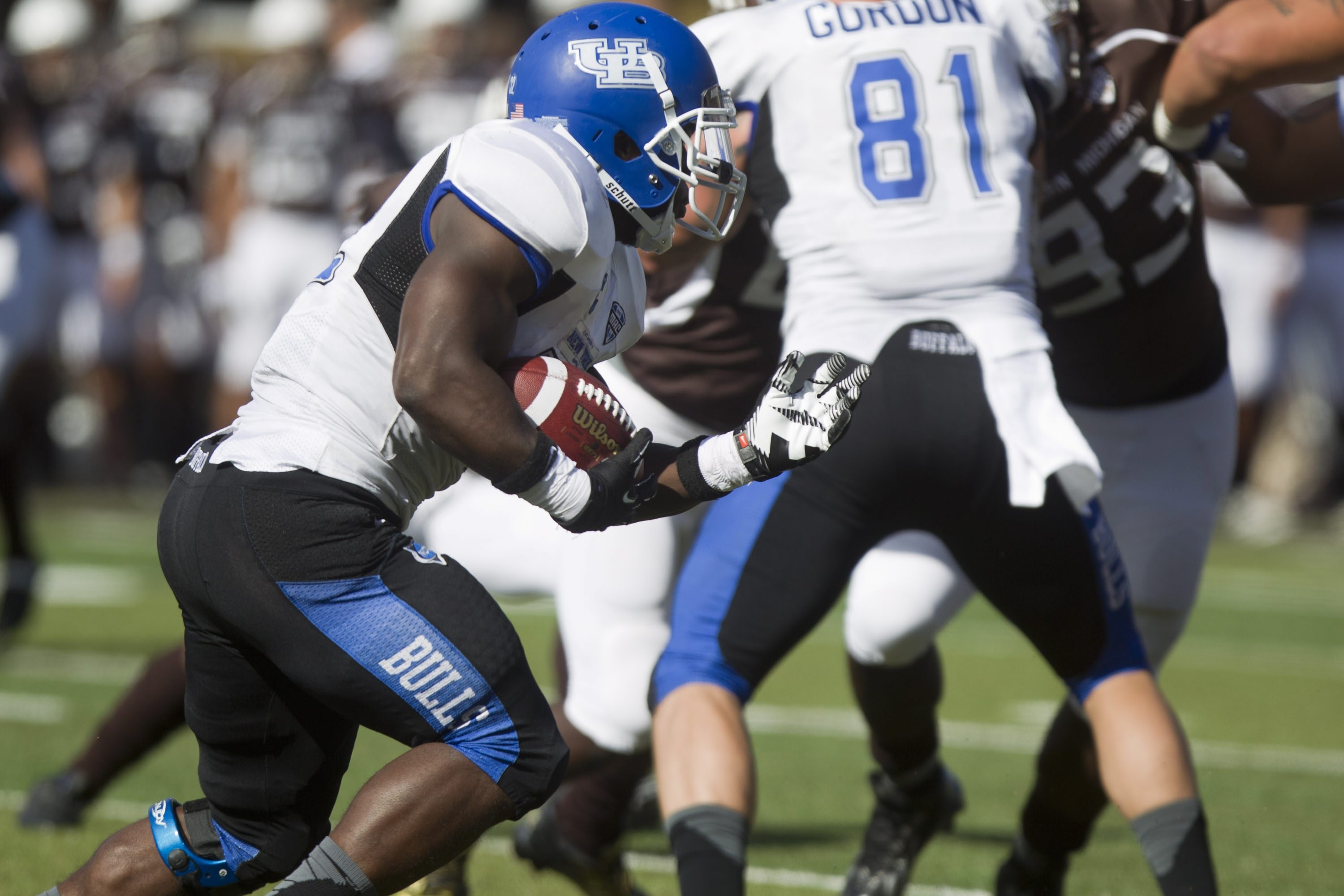 UB running back Branden Oliver had 128 yards on the ground.