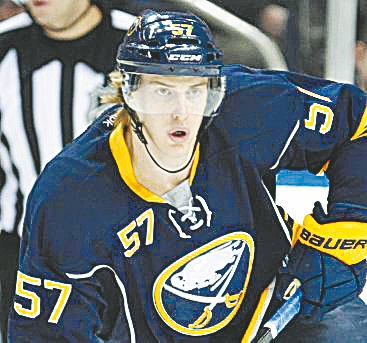 Tyler Myers is off to another slow start for the Sabres. (Harry Scull Jr. / Buffalo News file photo)