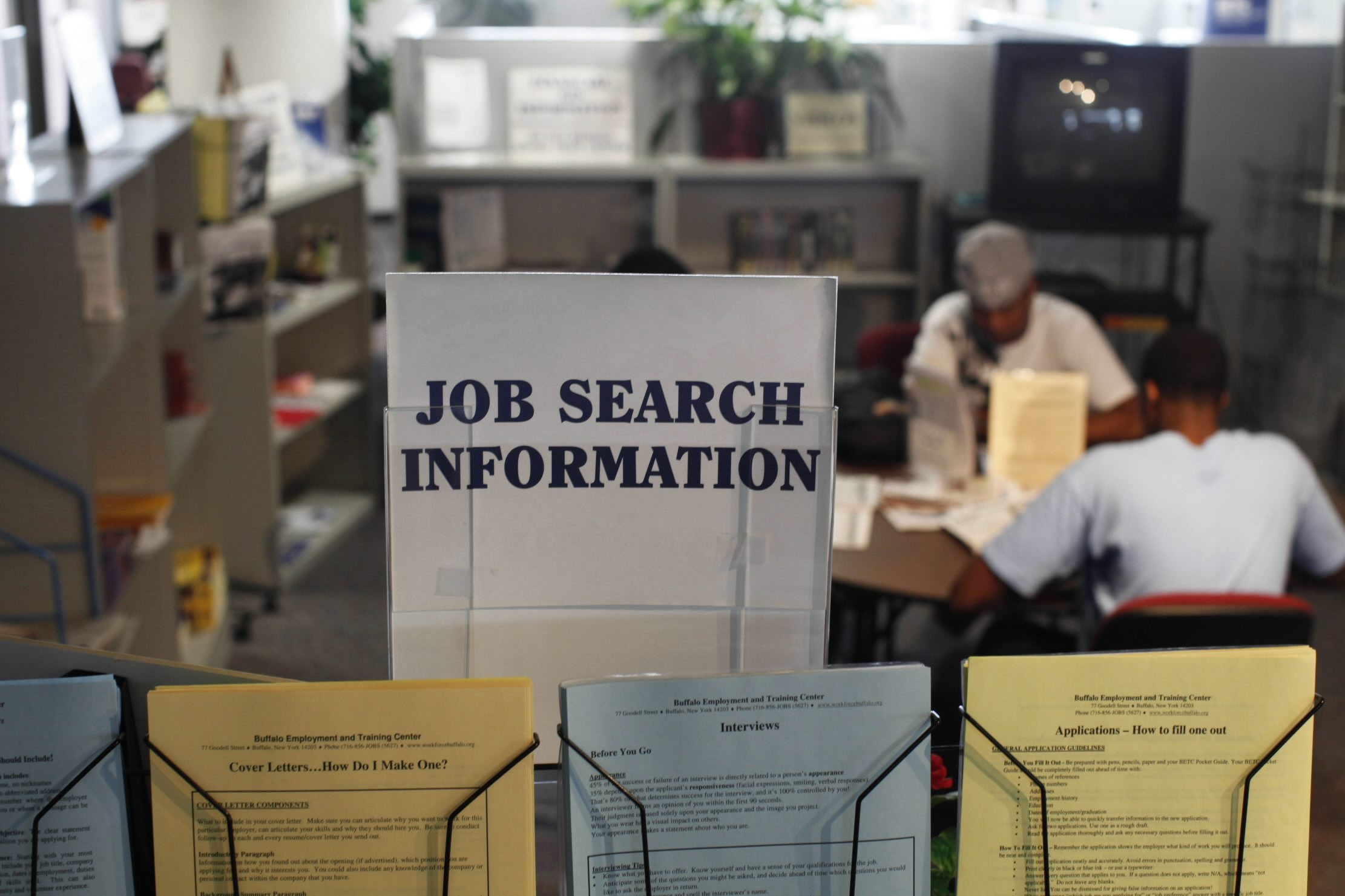 Resources for job searches are usually available at the Buffalo Employment and Training Center, but the facility is closed due to the federal goverment shut down.   {Derek Gee / Buffalo News file photo}