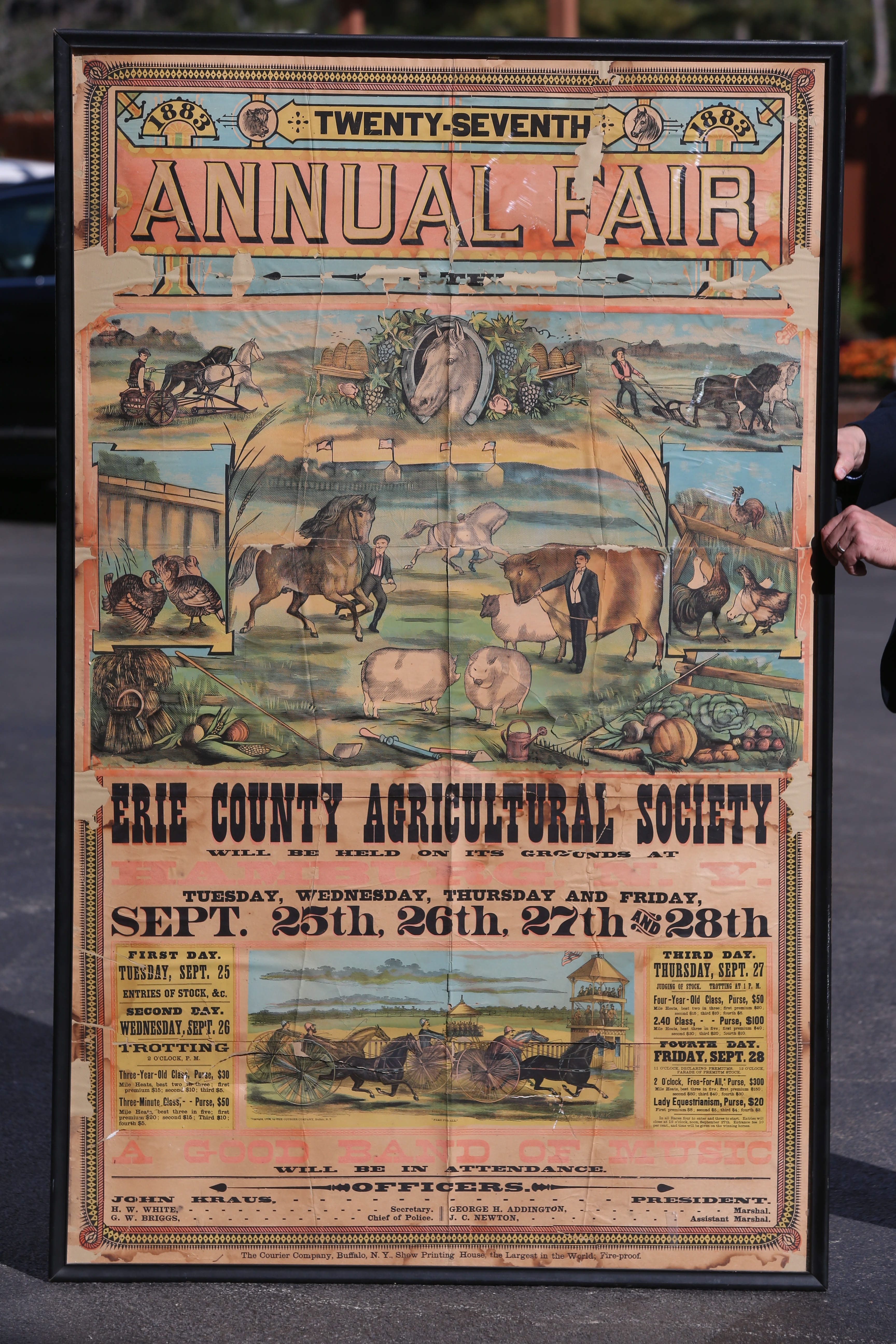 Pastoral life is depicted on an 1883 advertisement that will get a second run.
