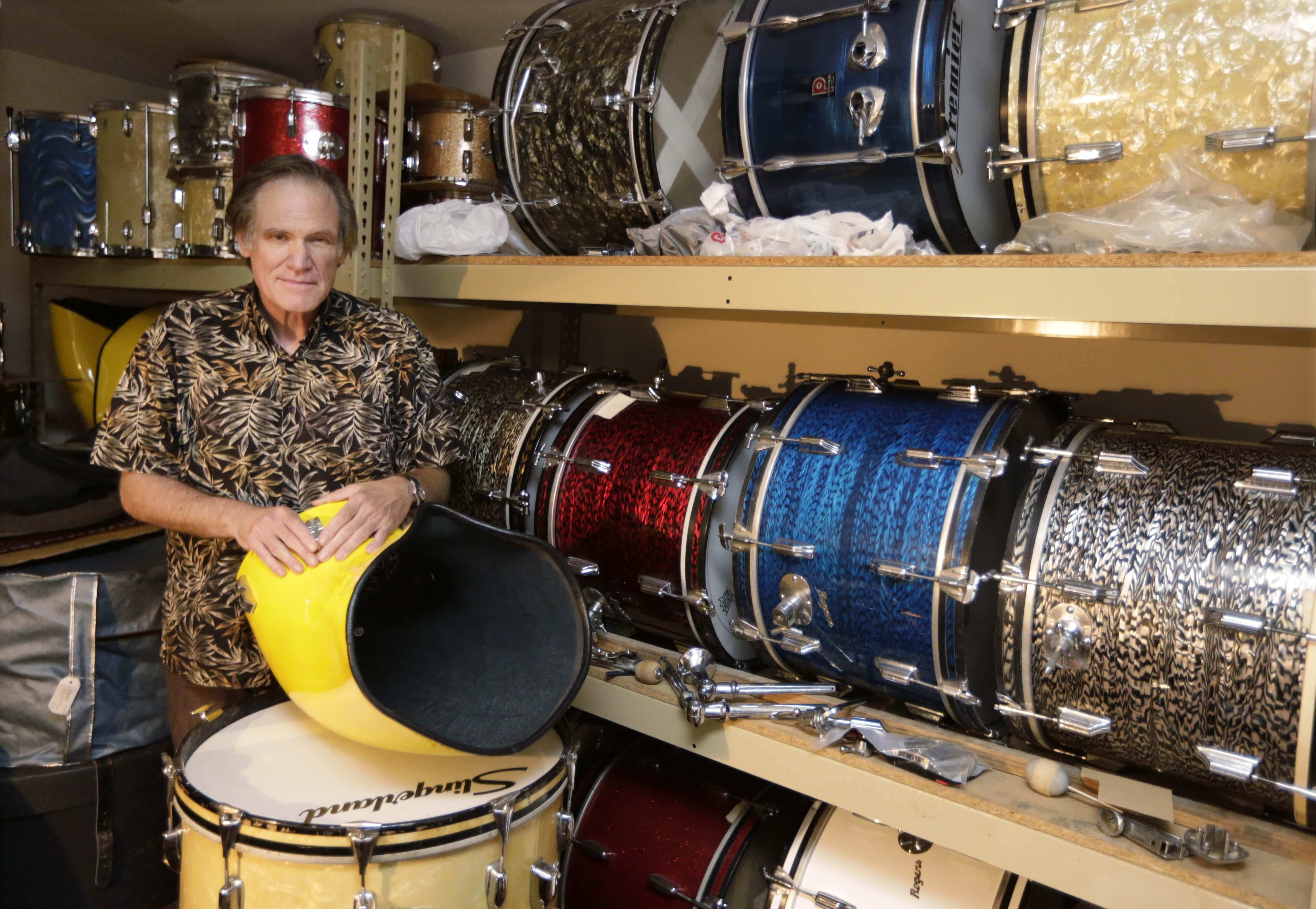 Jim Glay launched a vintage drum company, Crash Boom Bam, from a spare bedroom in his apartment in 2009.
