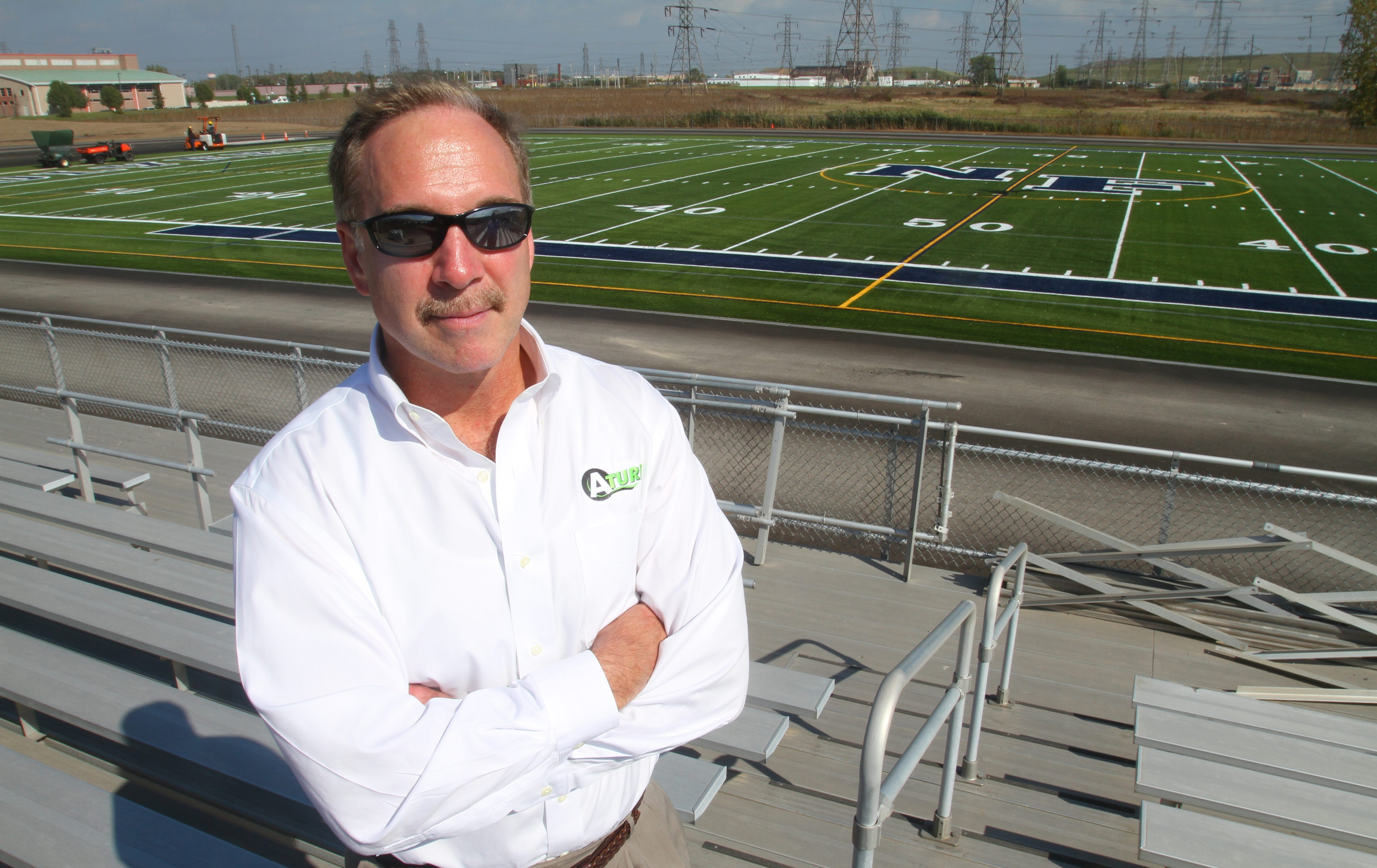 """Jim Dobmeier, president of Cheektowaga-based installer A-Turf, is confident that nine-field athletic complex in the Falls will be """"largest high school installation in the U.S."""""""