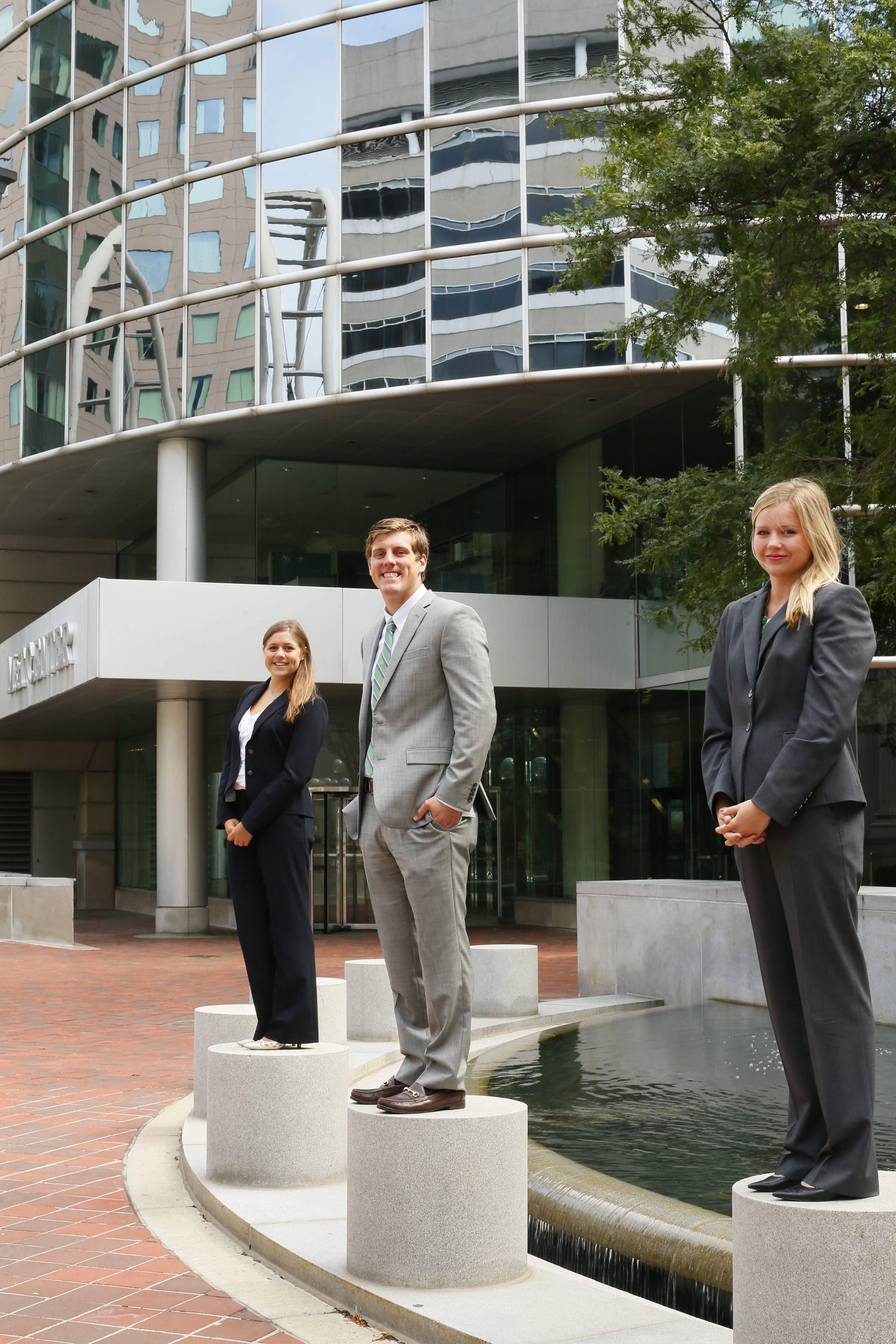 Laura Savattieri, left, Taylor Hogenkamp, center, and Christianna Denelsbeck participate in M&T Bank's management development program.