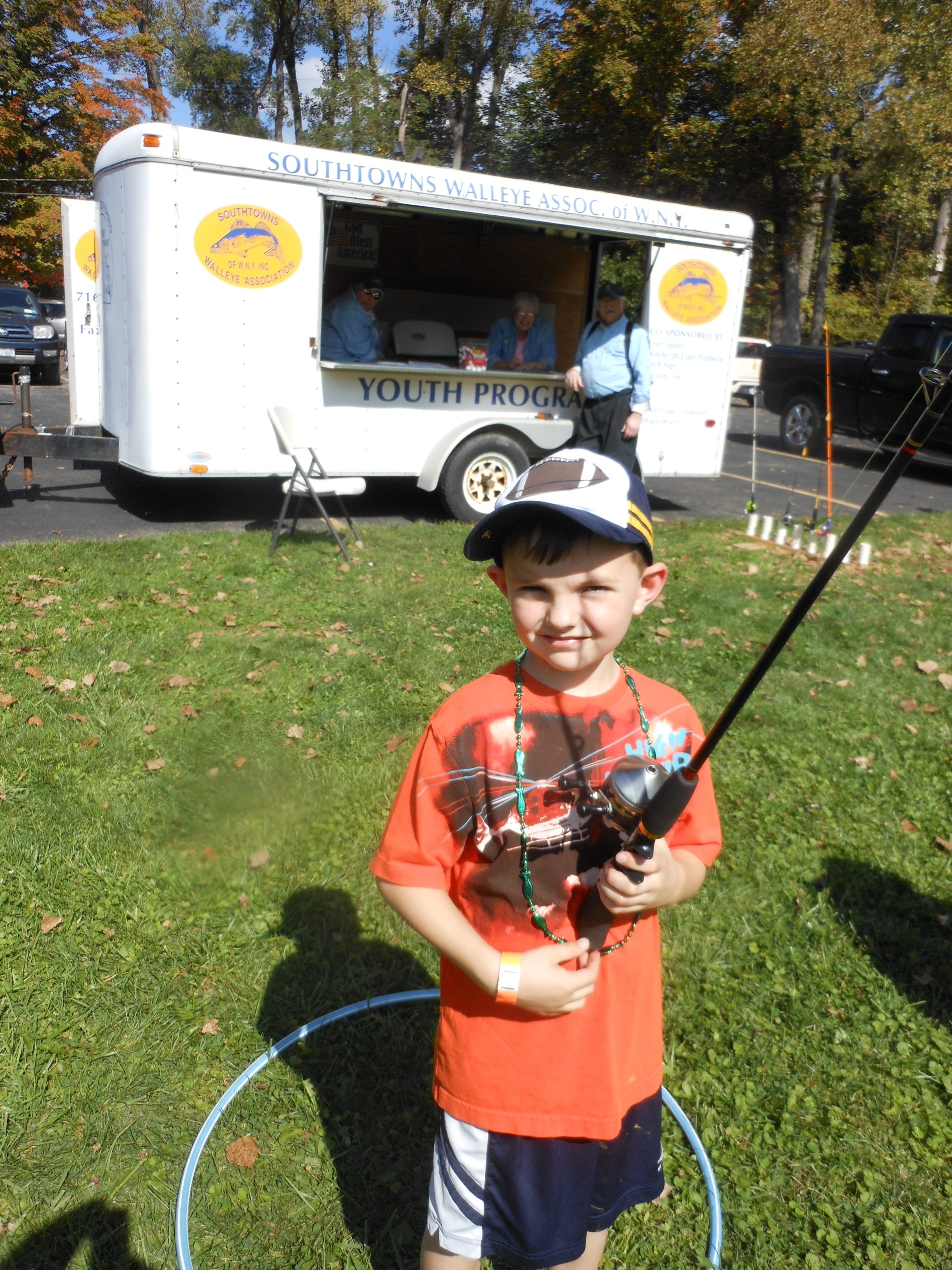 Cameron Kirby was on target while casting during the National Hunting and Fishing Day events held at Elma Conservation Club.