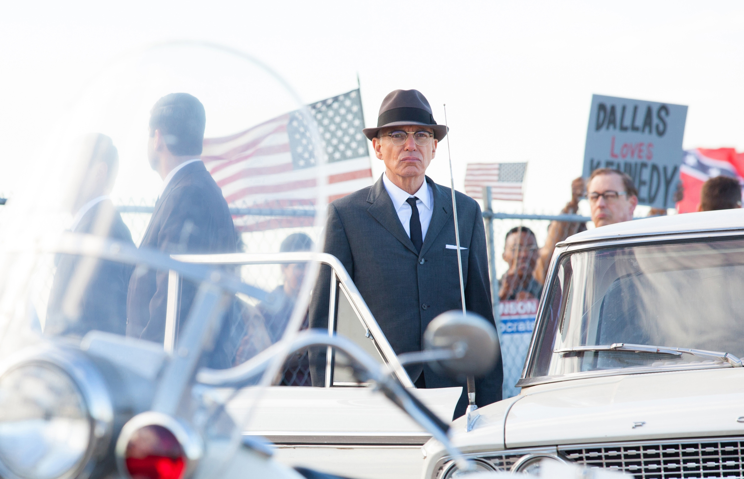 """Billy Bob Thornton stars as Forrest Sorrels, the head of the Secret Service in Dallas, in a scene from """"Parkland."""""""