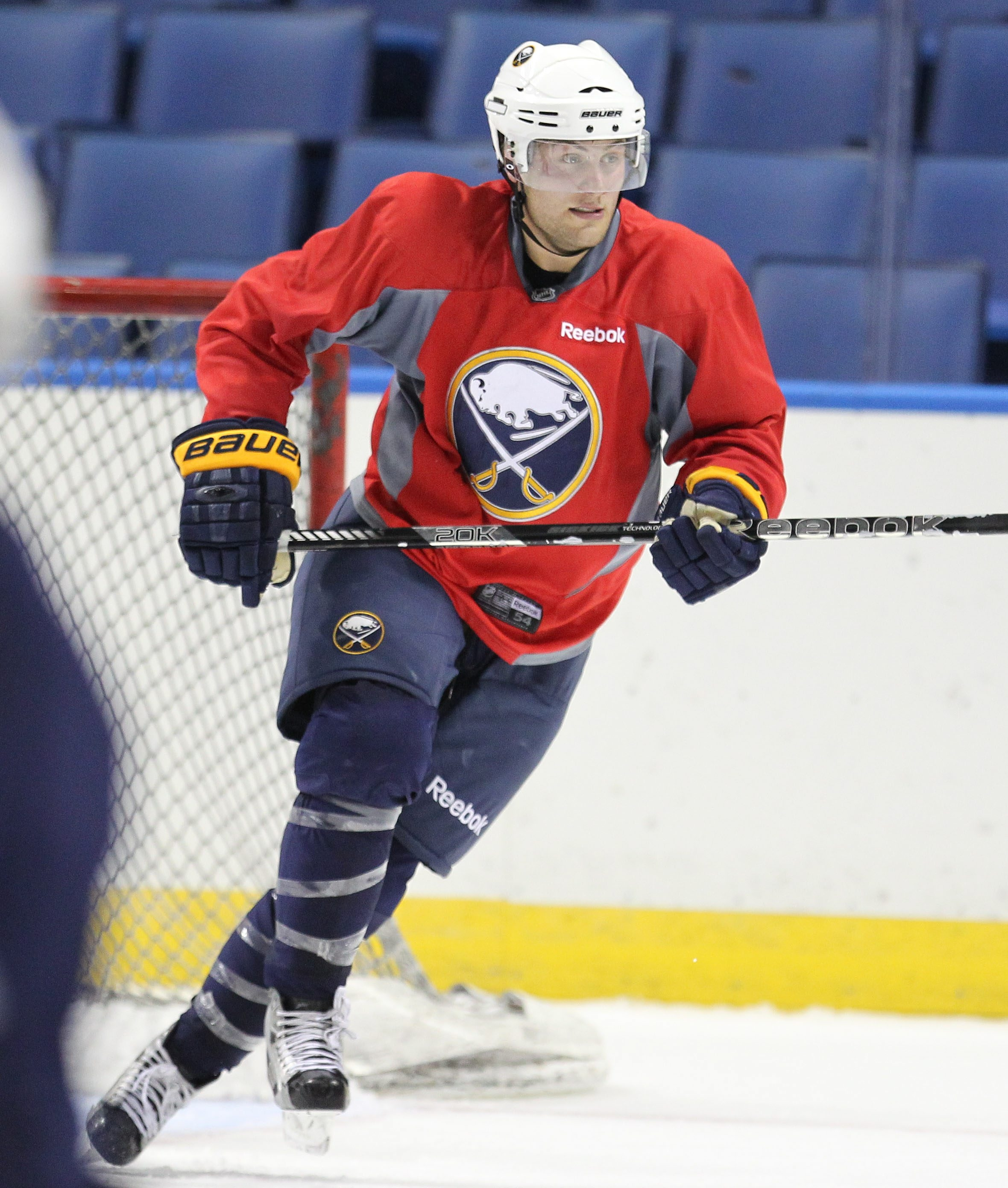 Rookie center Johan Larrson could be a healthy scratch for tonight's opener against Detroit.