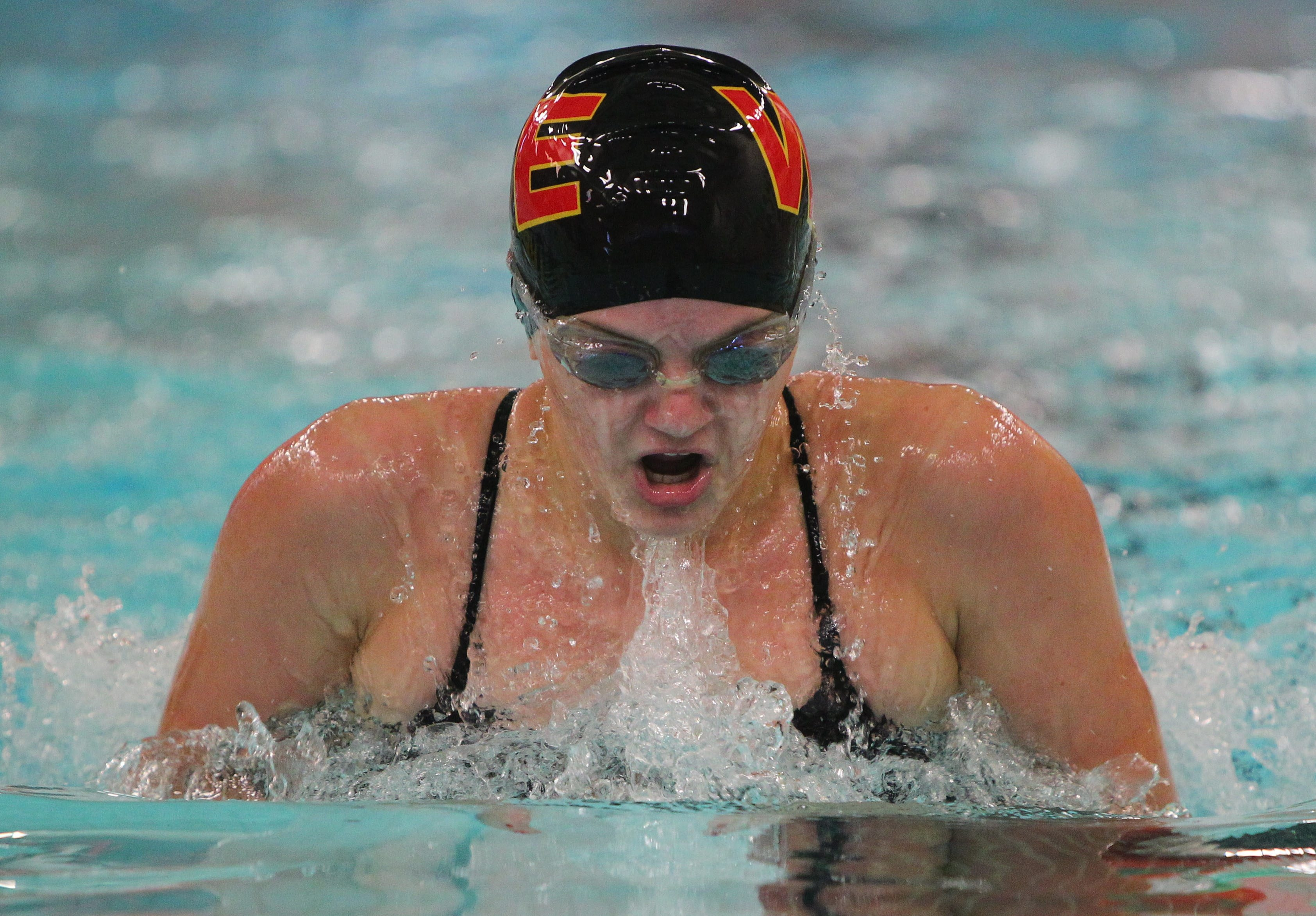 Brooke Pettis was a double winner in Williamsville East's victory over North.
