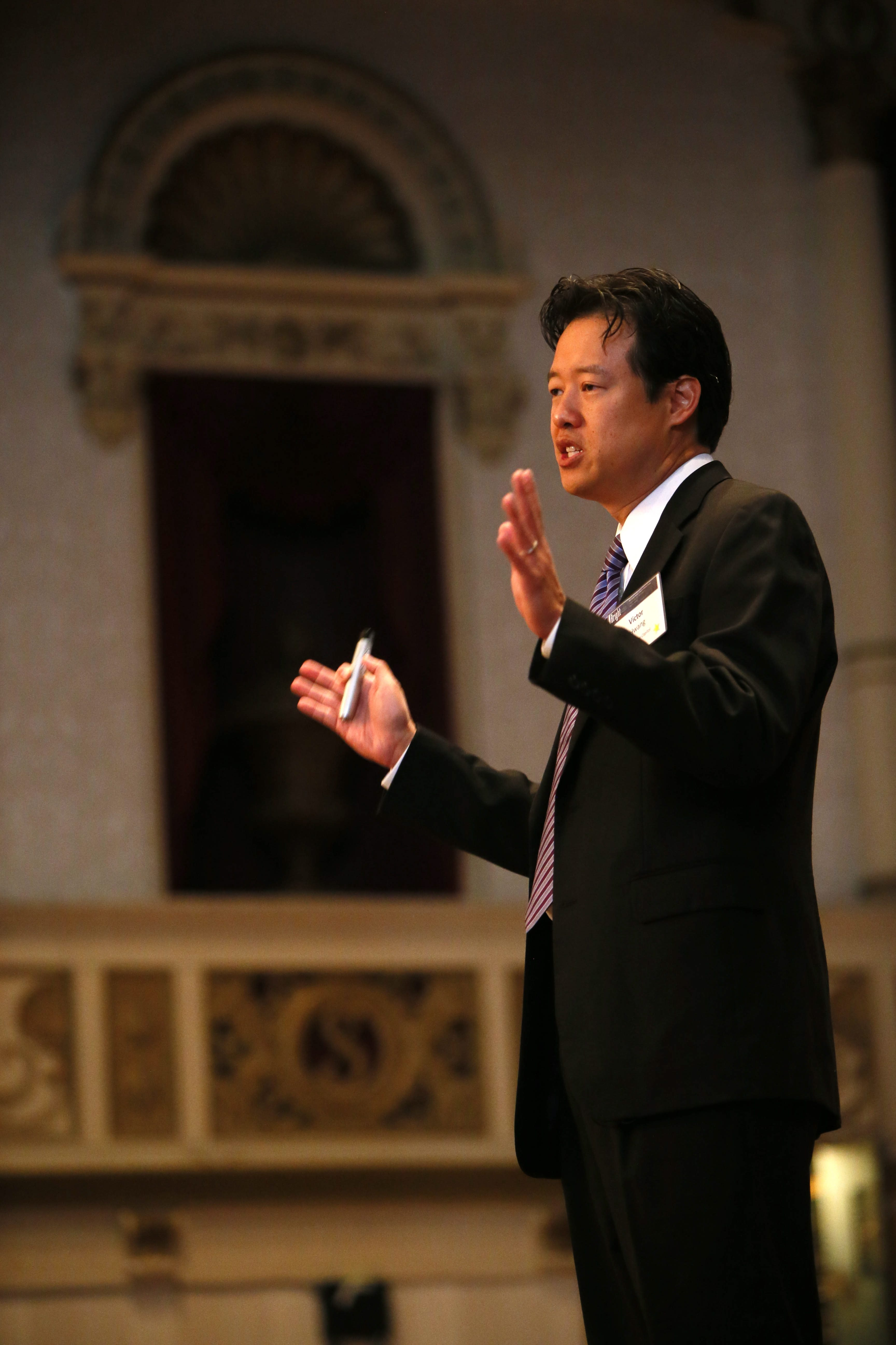 Victor Hwang, a Silicon Valley venture capitalist, gives the keynote address at Bright Buffalo Niagara's 2013 forum at Statler City on Tuesday.
