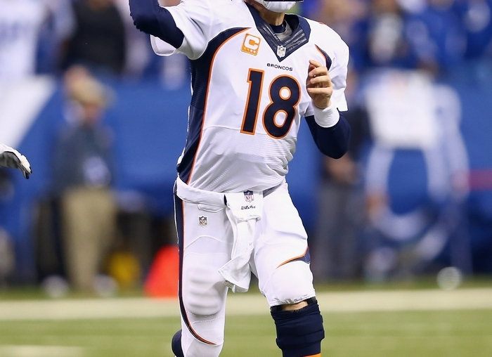 Peyton Manning's total of 193 points in standard-scoring ESPN leagues  is 57 more than any other player, making him a shoo-in for  midseason Most Valuable Player in the fantasy world. (Getty Images)