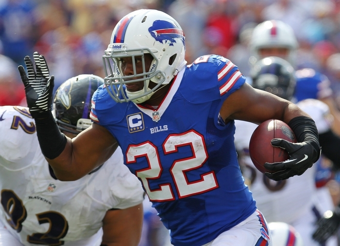 Fred Jackson of the Bills will try to play hurt Thursday night in Cleveland. (Mark Mulville/Buffalo News)