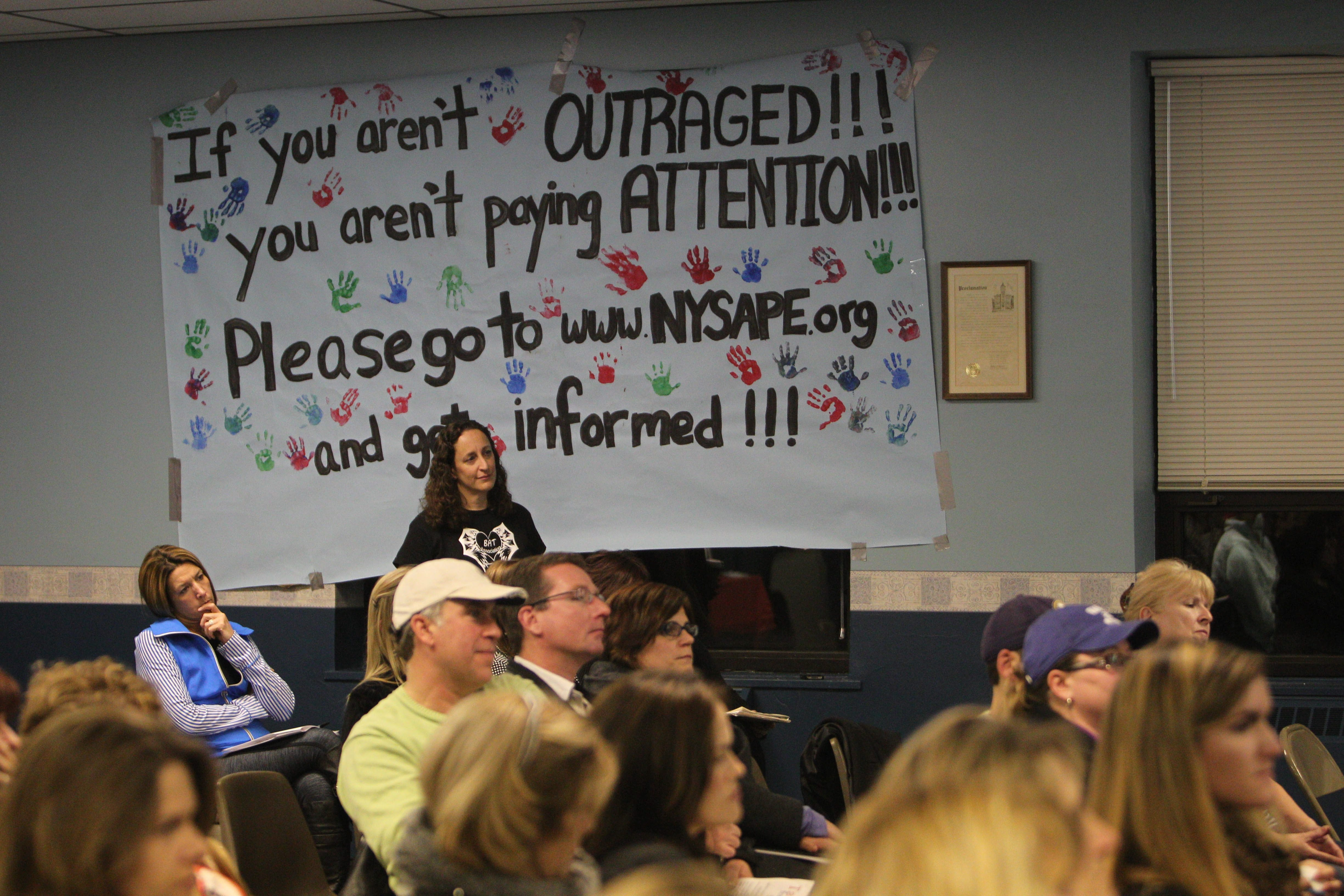 Parents and community members attended an informational meeting on the Common Core sponsored by Parents for Quality Education in Lancaster. It was held at the Municipal Building in mid-November.
