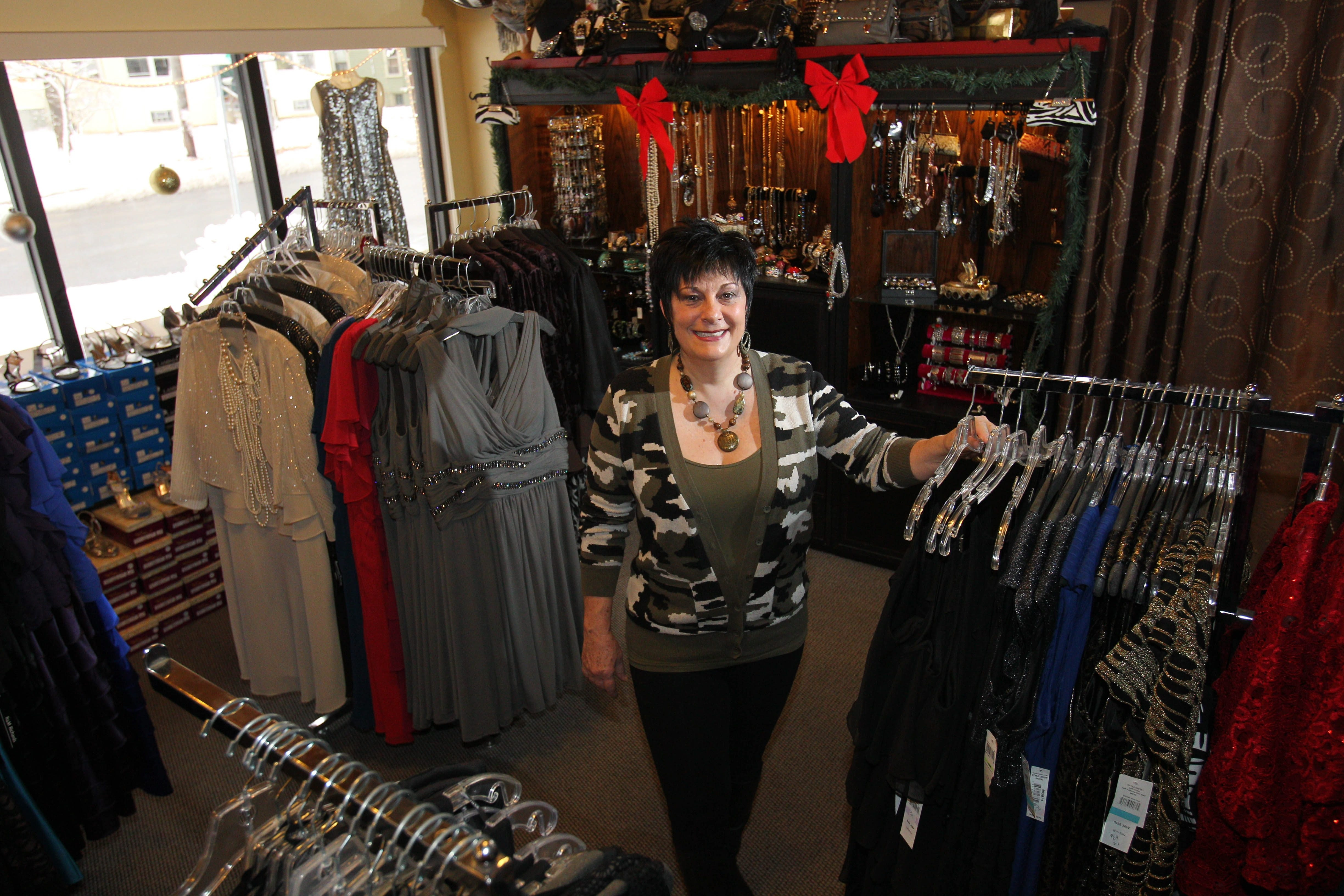 Monroe, owner of Monroe's Place, a women's clothing boutique on Lake Street in Hamburg, is participating in Small Business Saturday along with many other small businesses.
