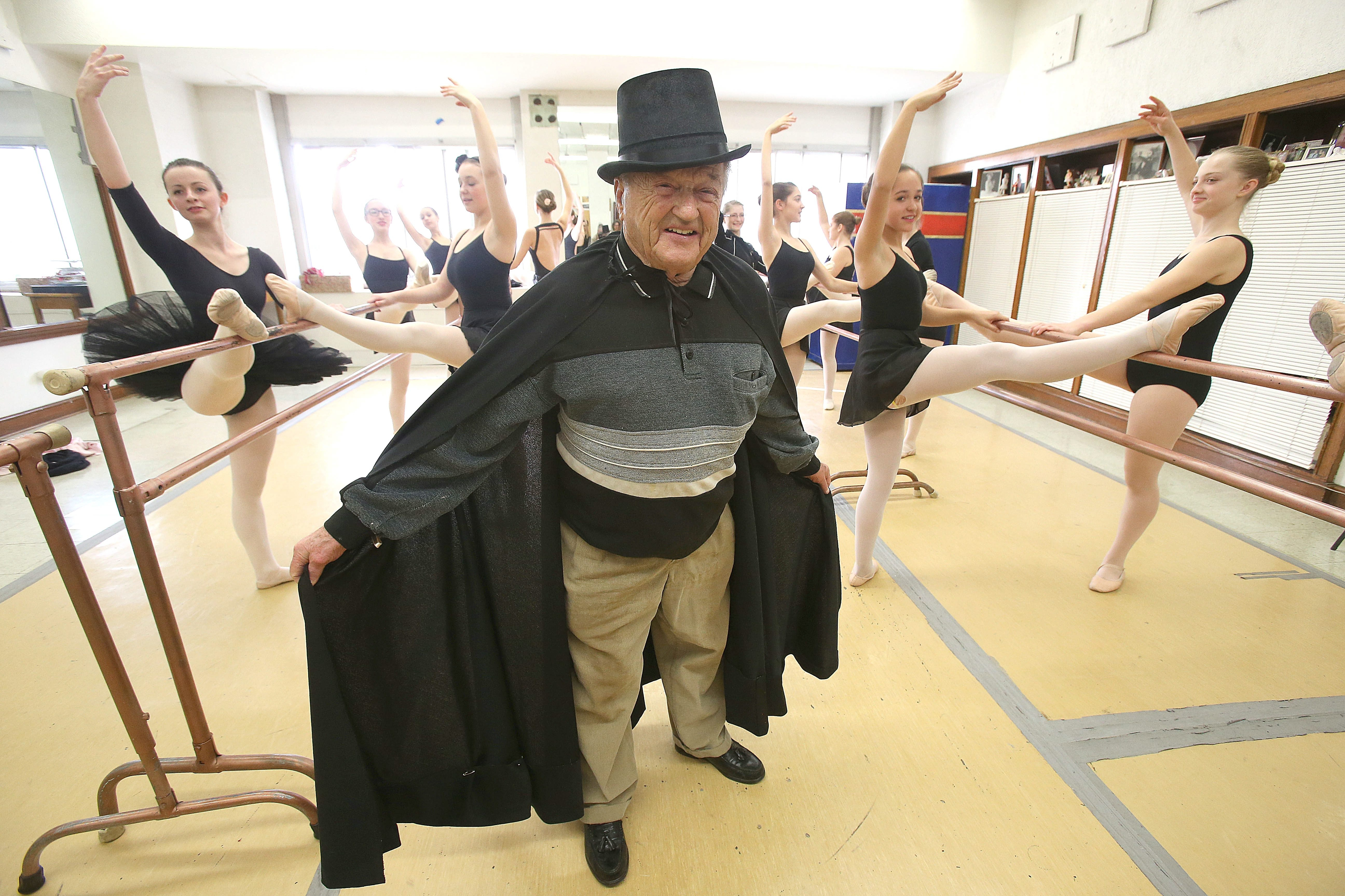 "John Cappello, 93, has been dancing the part of ""the Grandfather"" in the Greater Niagara Ballet Company's ""Nutcracker"" for more than two decades."