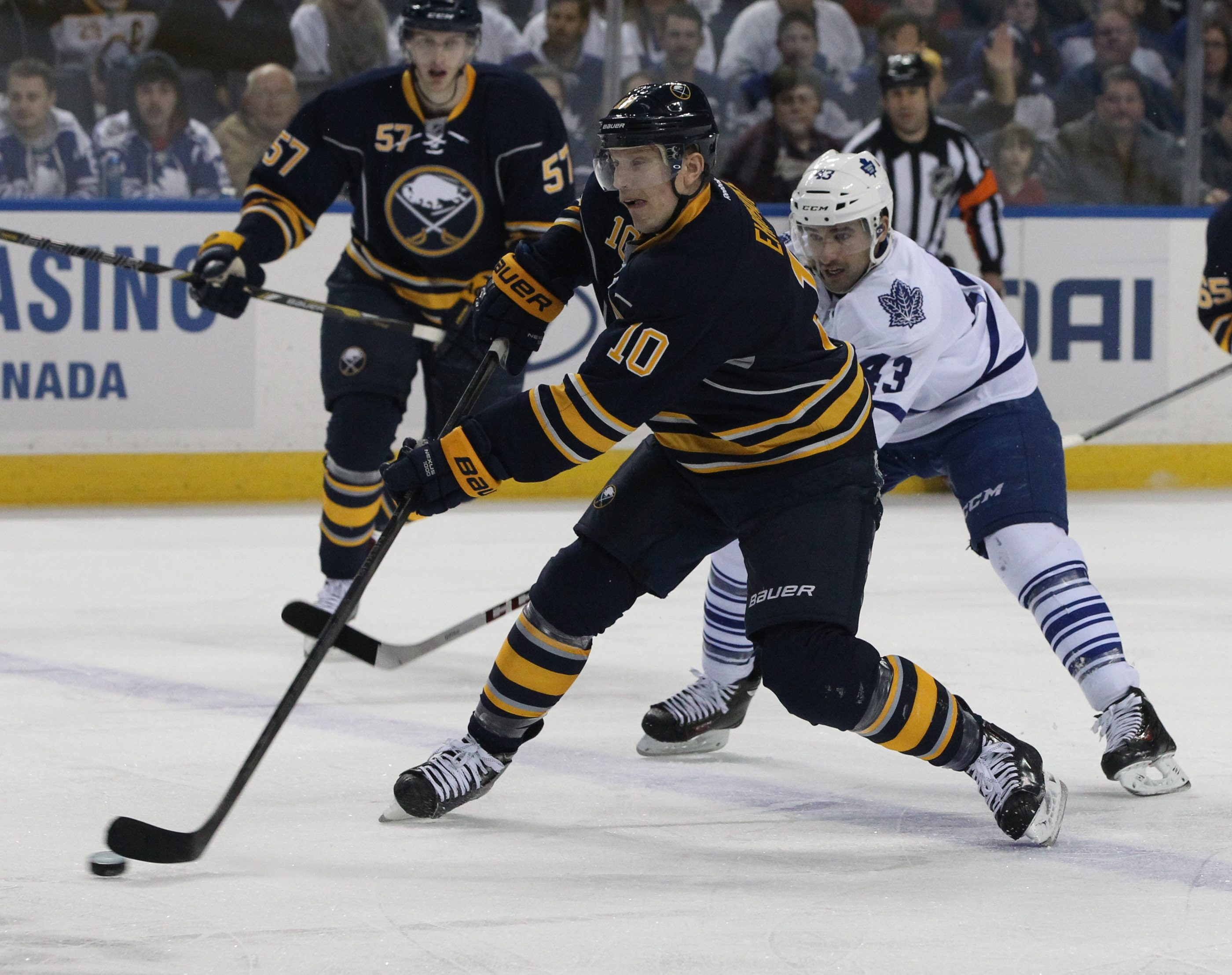 A letter writer thinks defenseman Christian Ehrhoff is one remaining cause of the Sabres' troubles.