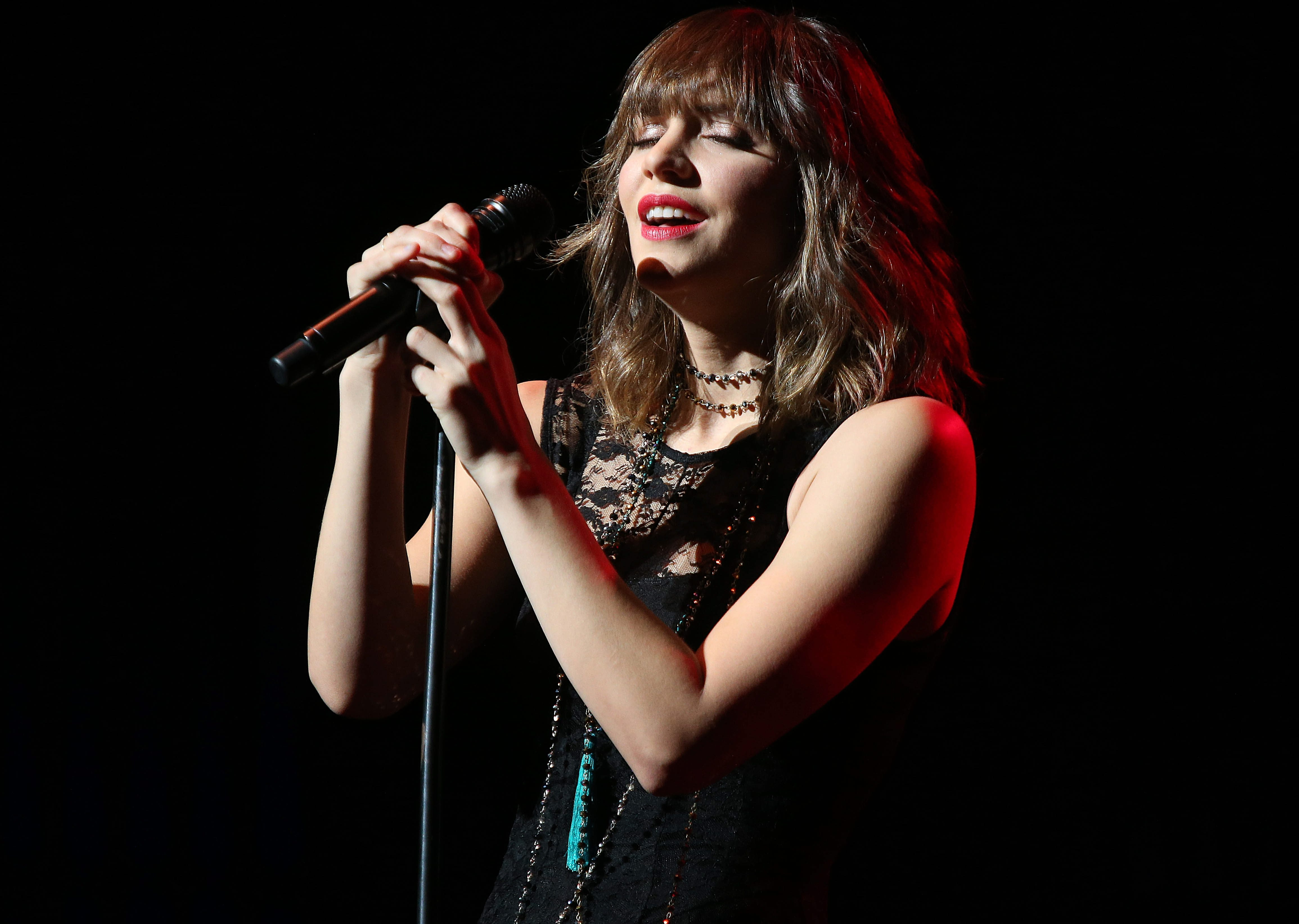 Katharine McPhee performs in concert in the Mainstage Theatre in UB's Center for the Arts on Sunday.
