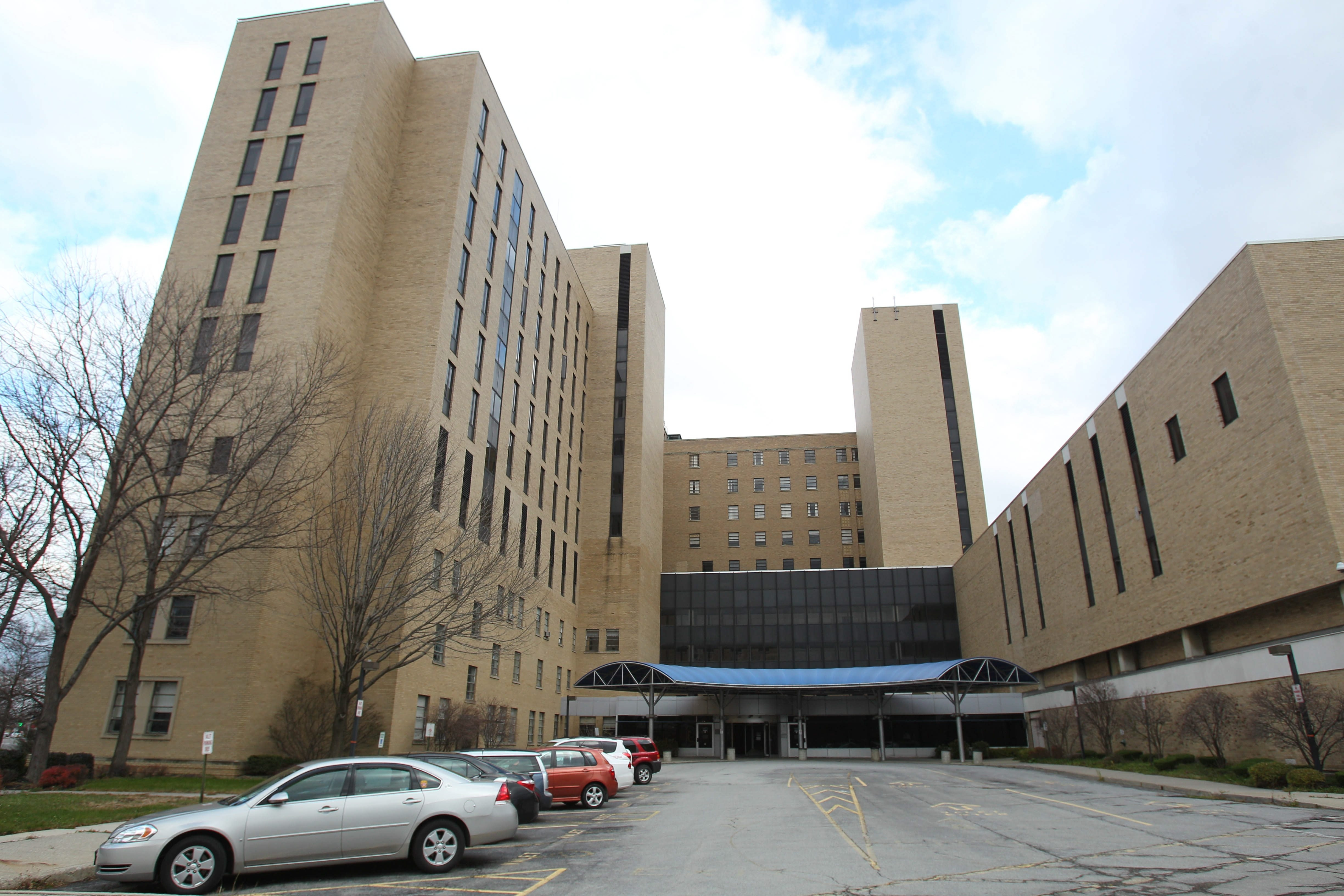 Montante's proposal calls for razing the 10-story main building at the former Millard Hospital Gates Circle and replacing it with a $28 million Canterbury Woods satellite facility with 50 to 55 senior citizen living units.  (Sharon Cantillon/Buffalo News)