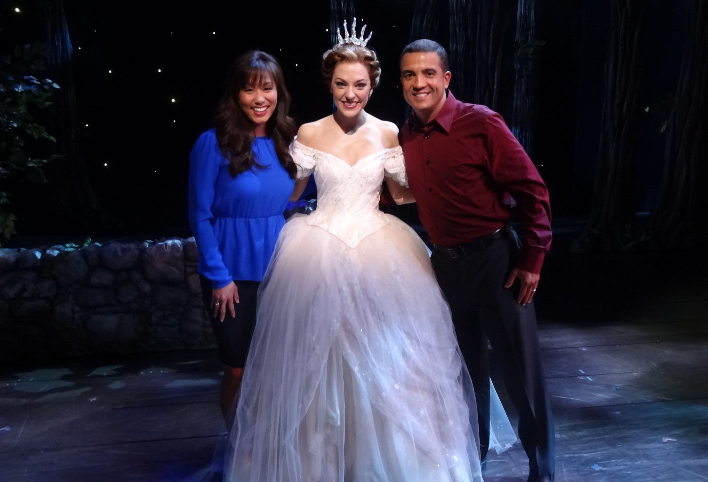 "Laura Osnes, the title character in ""Rodgers + Hammerstein's Cinderella,"" did a video clue in her costume gown with two ""Jeopardy"" production assistants."