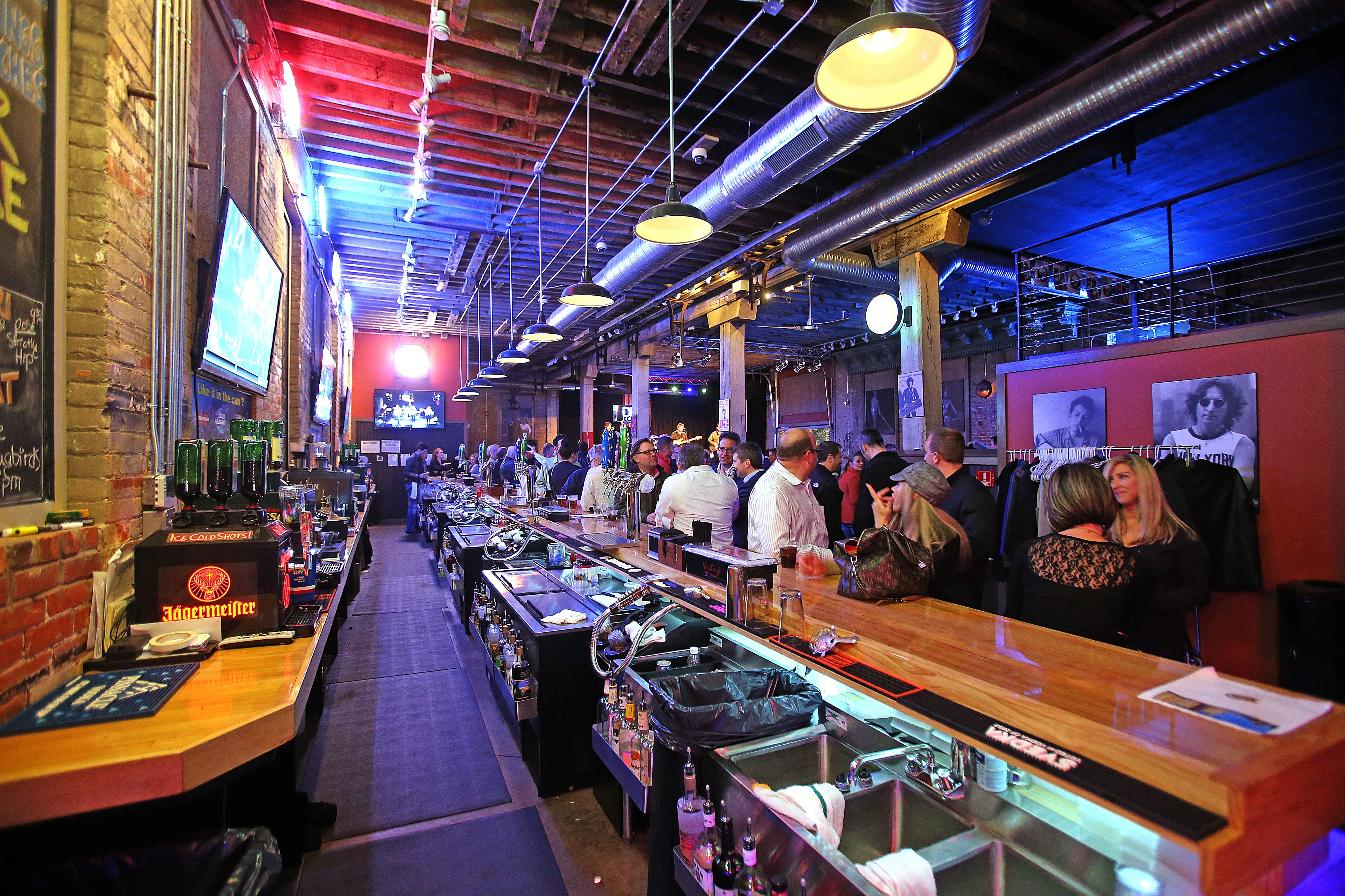 Buffalo Iron Works, which opened a few weeks ago in the Cobblestone District, offers musical acts five nights a week, as well as food and locally brewed beers.