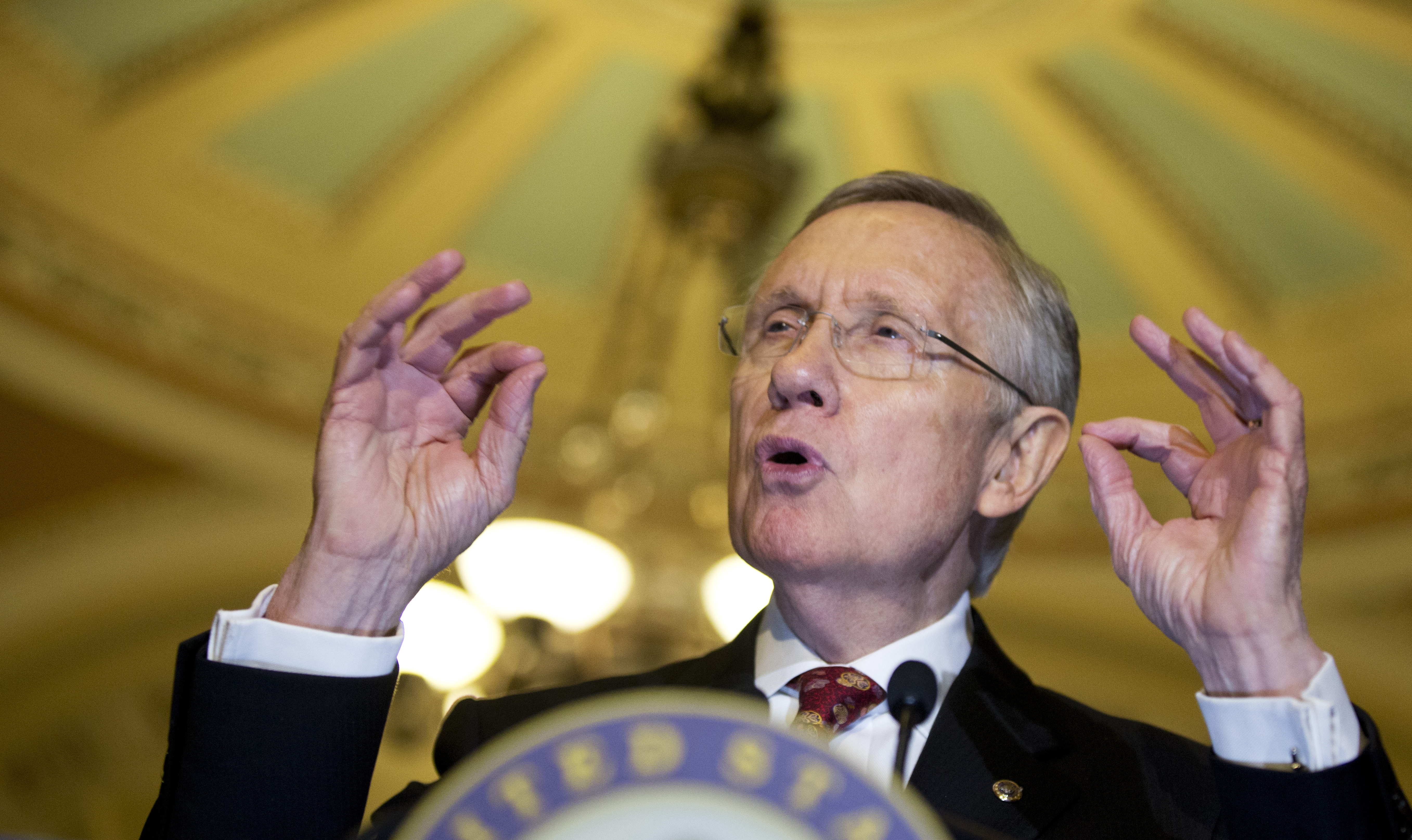 """Sen. Harry Reid cited """"unbelievable, unprecedented obstruction"""" by Republicans in calling for vote."""