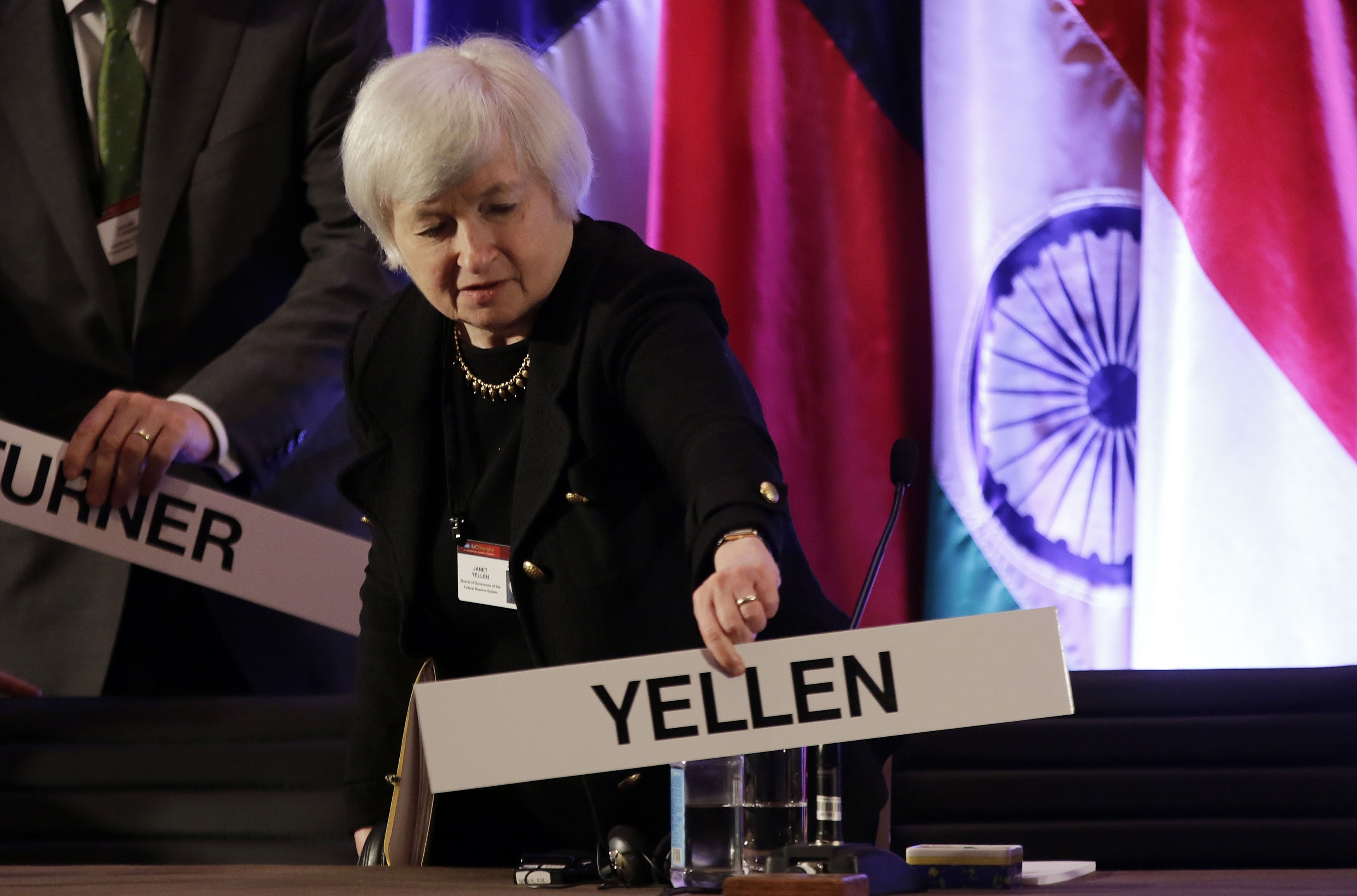 """Janet Yellen, who currently is vice chairwoman of the Federal Reserve, said unemployment is still too high for the Fed to """"reduce its monetary accommodation and reliance on tools"""" such as asset purchases."""