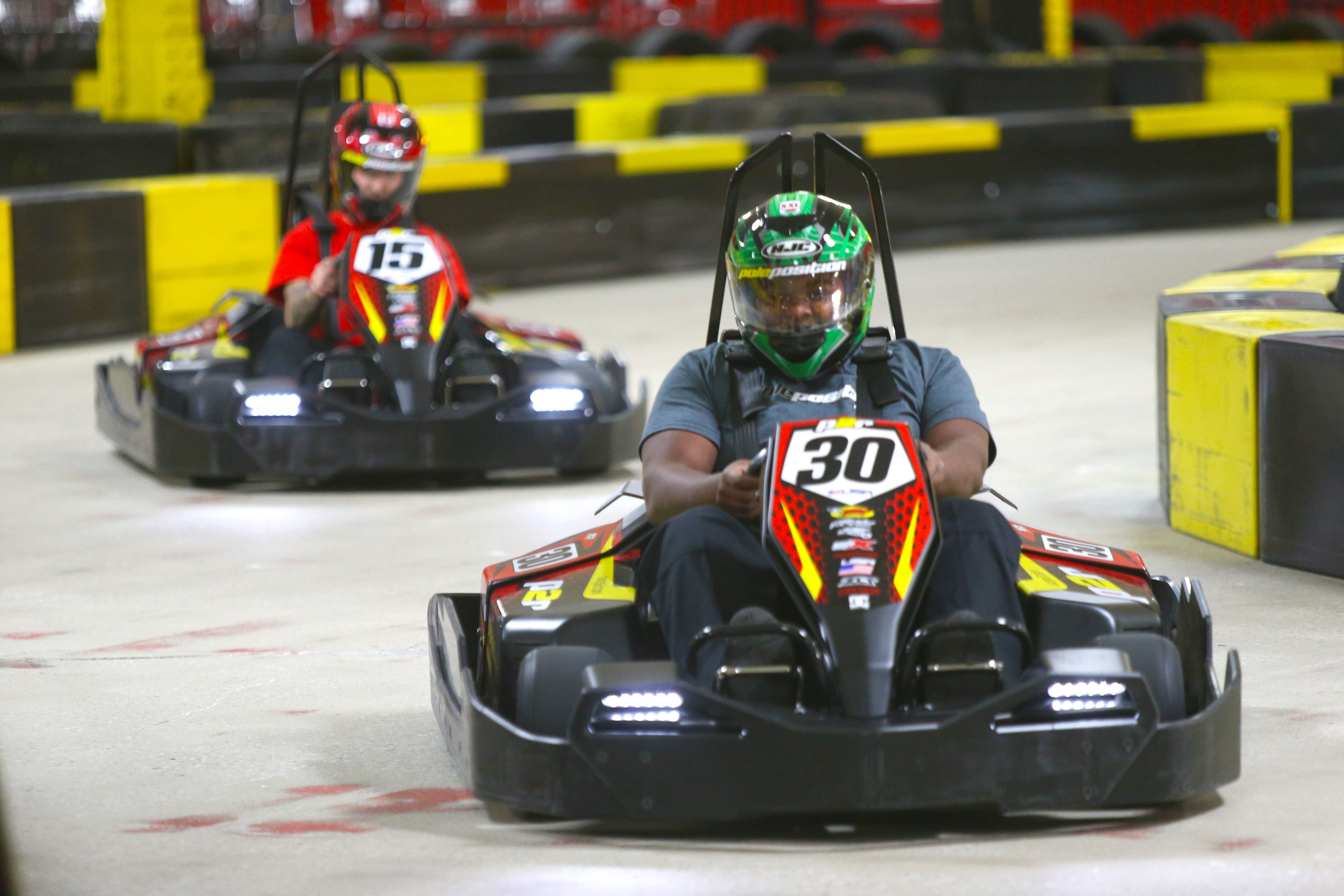 Go-kart rides at Pole Position Raceway, which opens today at Walden Galleria cost $23 and can be enjoyed by anyone 4 feet or taller.