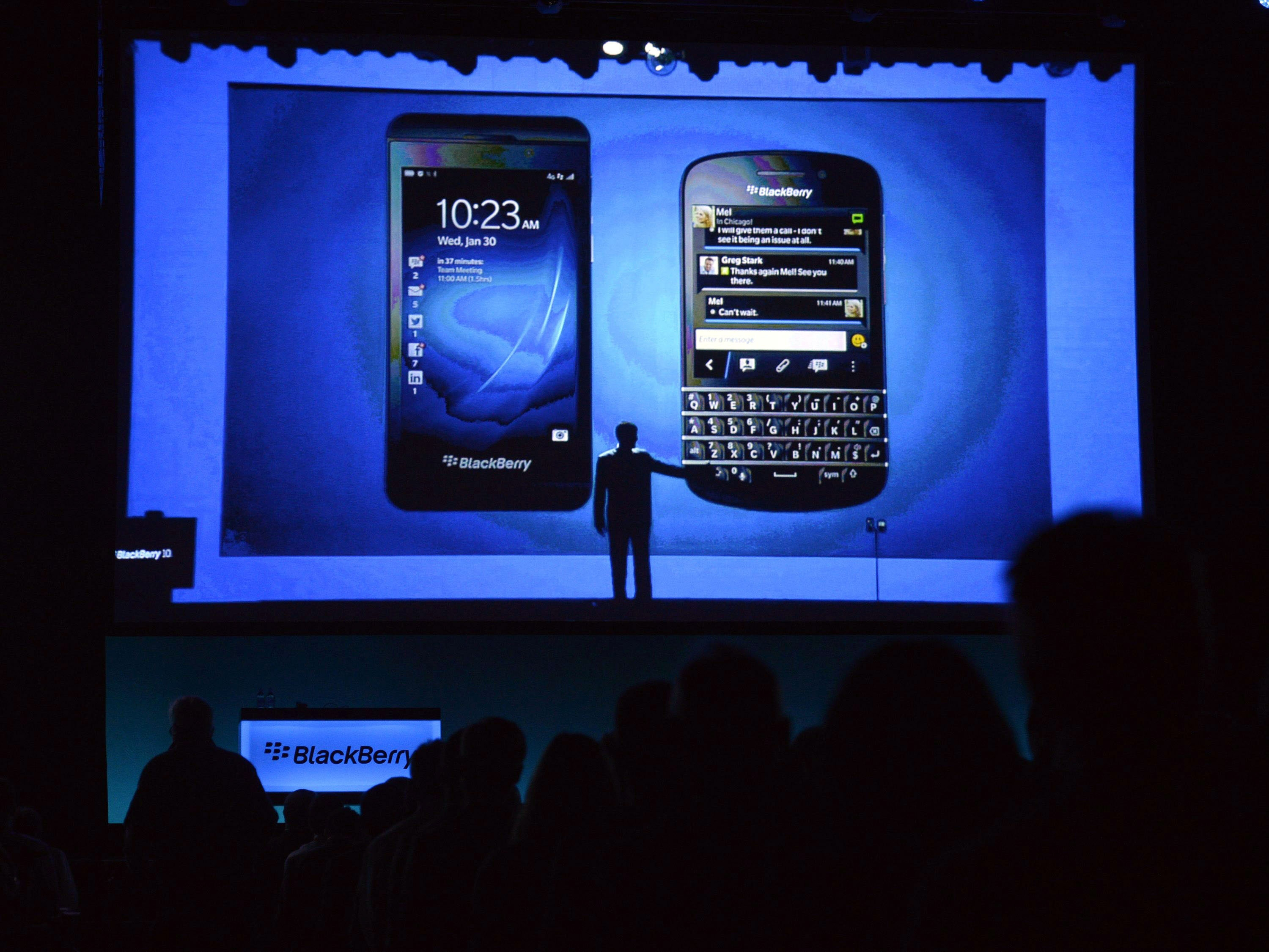 Thorsten Heins will step down as CEO of BlackBerry, it was announced Monday. John S. Chen will serve as chairman of the board of directors and interim CEO.