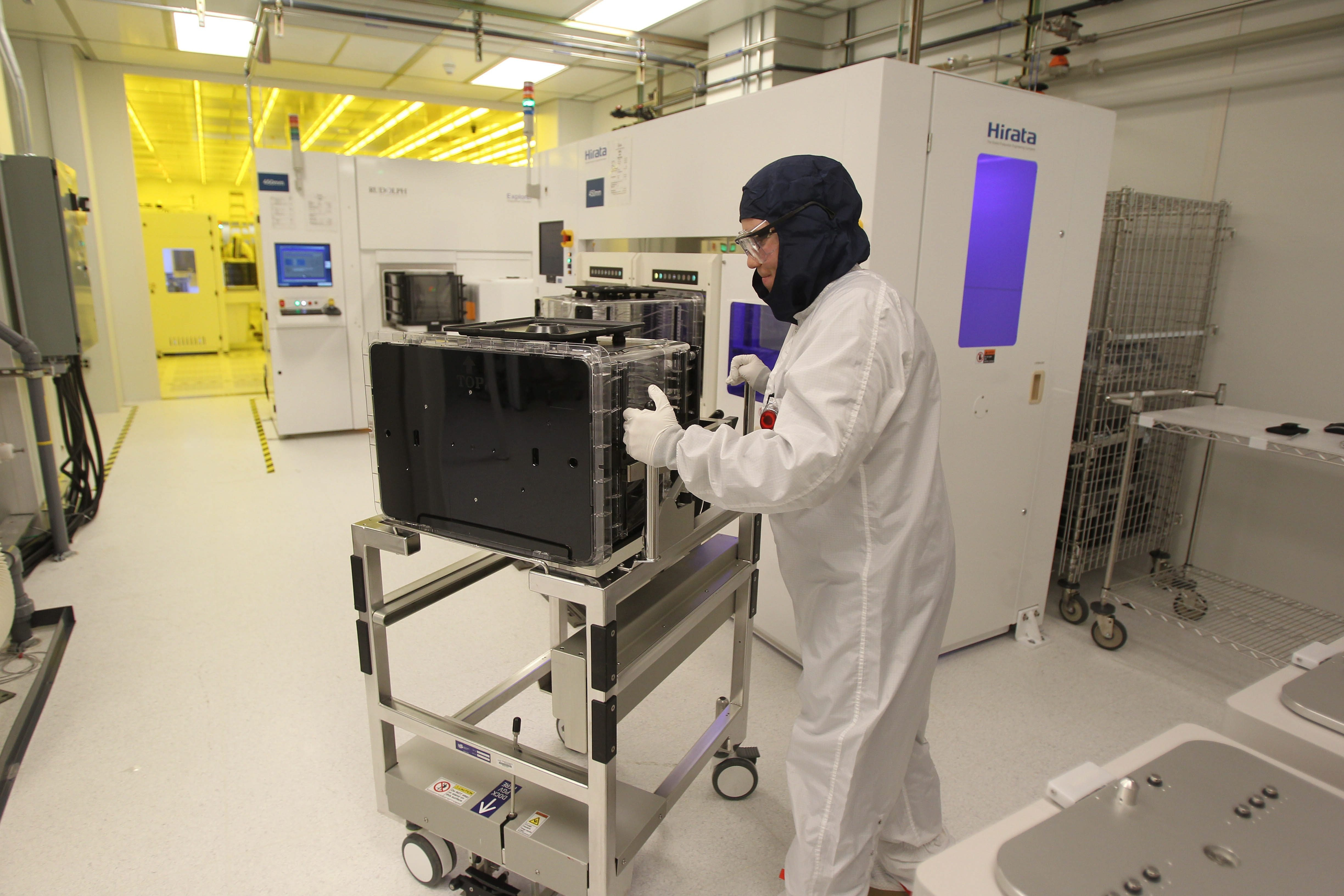 A technician works in a cleanroom at the SUNY College of Nanoscale Science and Engineering in Albany. (Buffalo News file photo)