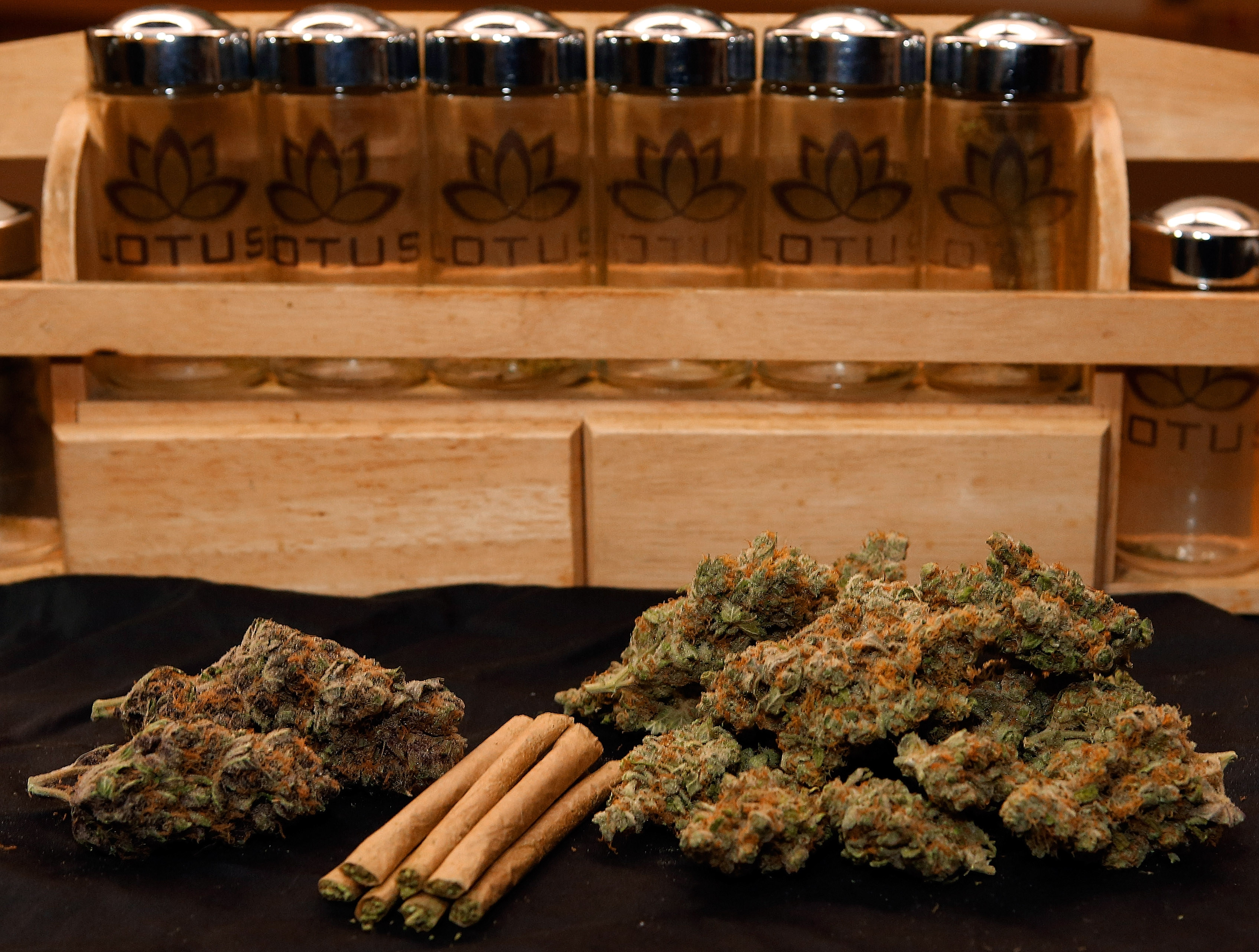 Some rural Colorado residents cite the legalization of marijuana as one reason they want to form their own state. Above, marijuana is on displayed at a dispensary in Denver.(AP file photo)