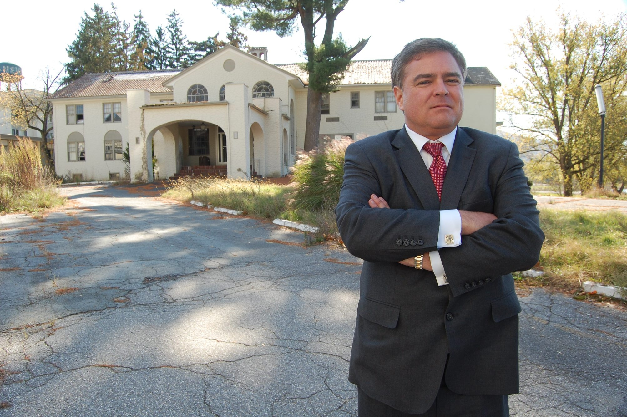 Michael R. Treanor, one of 35 investors hoping to bring a casino to the shuttered Nevele resort in Wawarsing, 90 minutes from George Washington Bridge, sees approval of referendum as key to rejuvenation of tourism.