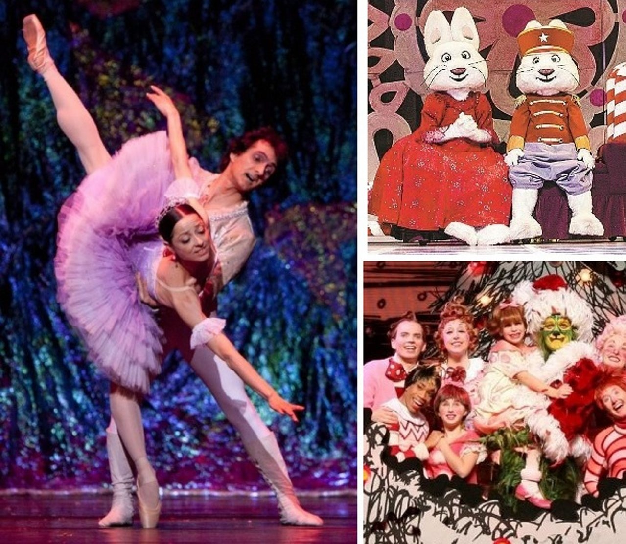 Variations on the Nutcracker include the Neglia Ballet and the BPO at Shea's and a Max and Ruby Nutcracker at the Riviera Theatre, both Saturday. The Grinch musical will be on stage in Shea's Dec. 17 to 22.