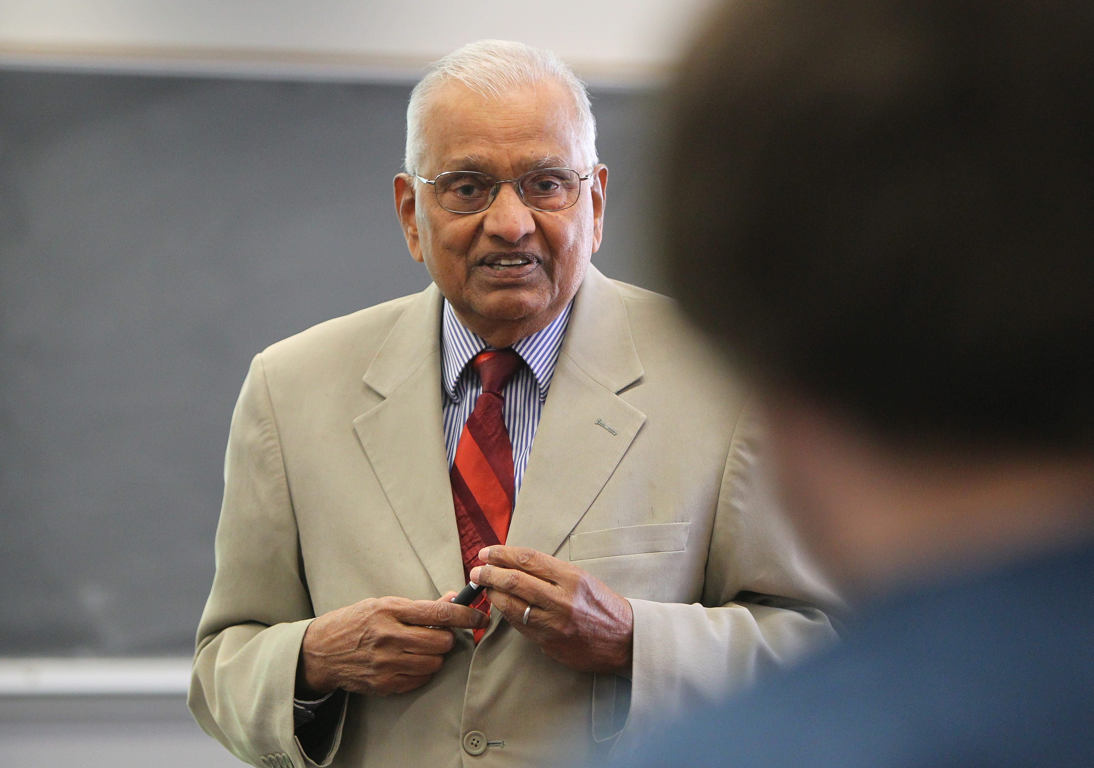Dr. Satish Mohan teaches students in Bell Hall on the University at Buffalo North Campus in Amherst Tuesday, October 22, 2013.