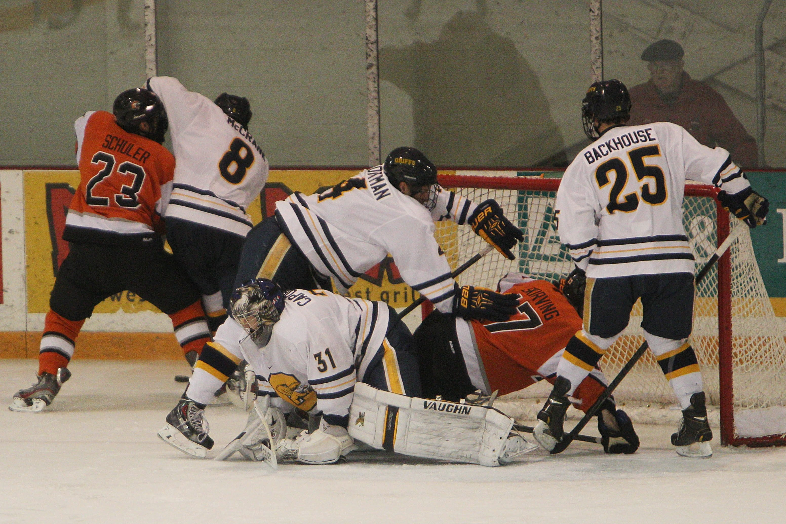 Canisius goaltender Tony Capobianco has been helped by good penalty-killing ahead of him.