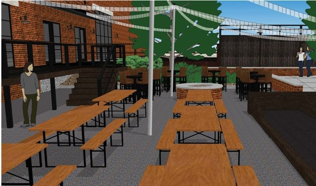 Resurgence Brewing Co. plans to include a 3,500-square-foot beer garden with bocce courts at its new headquarters.
