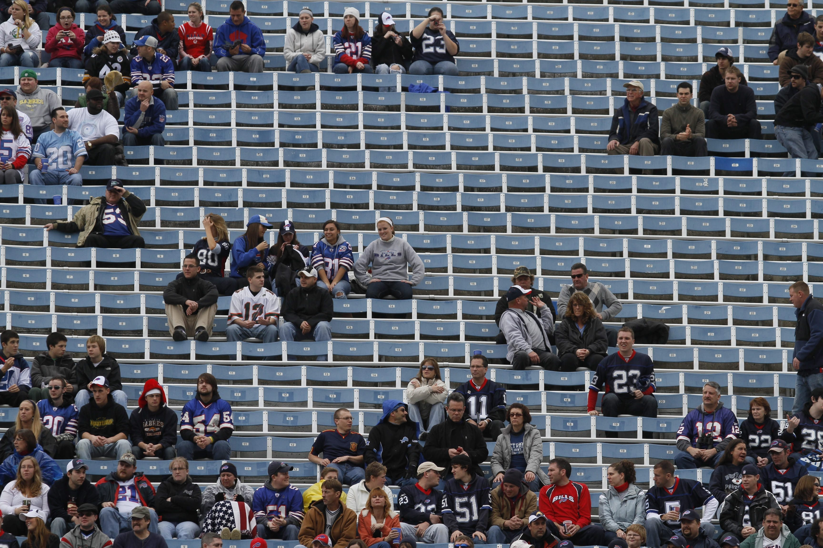 Empty seats during Buffalo Bills games may no longer threaten broadcasts of the games under a proposal made Friday by the Federal Communications Commission.